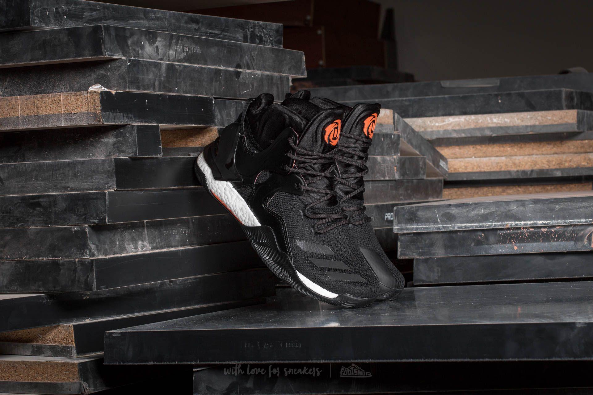 adidas D Rose 7 Core Black/ Utility Black-Orange