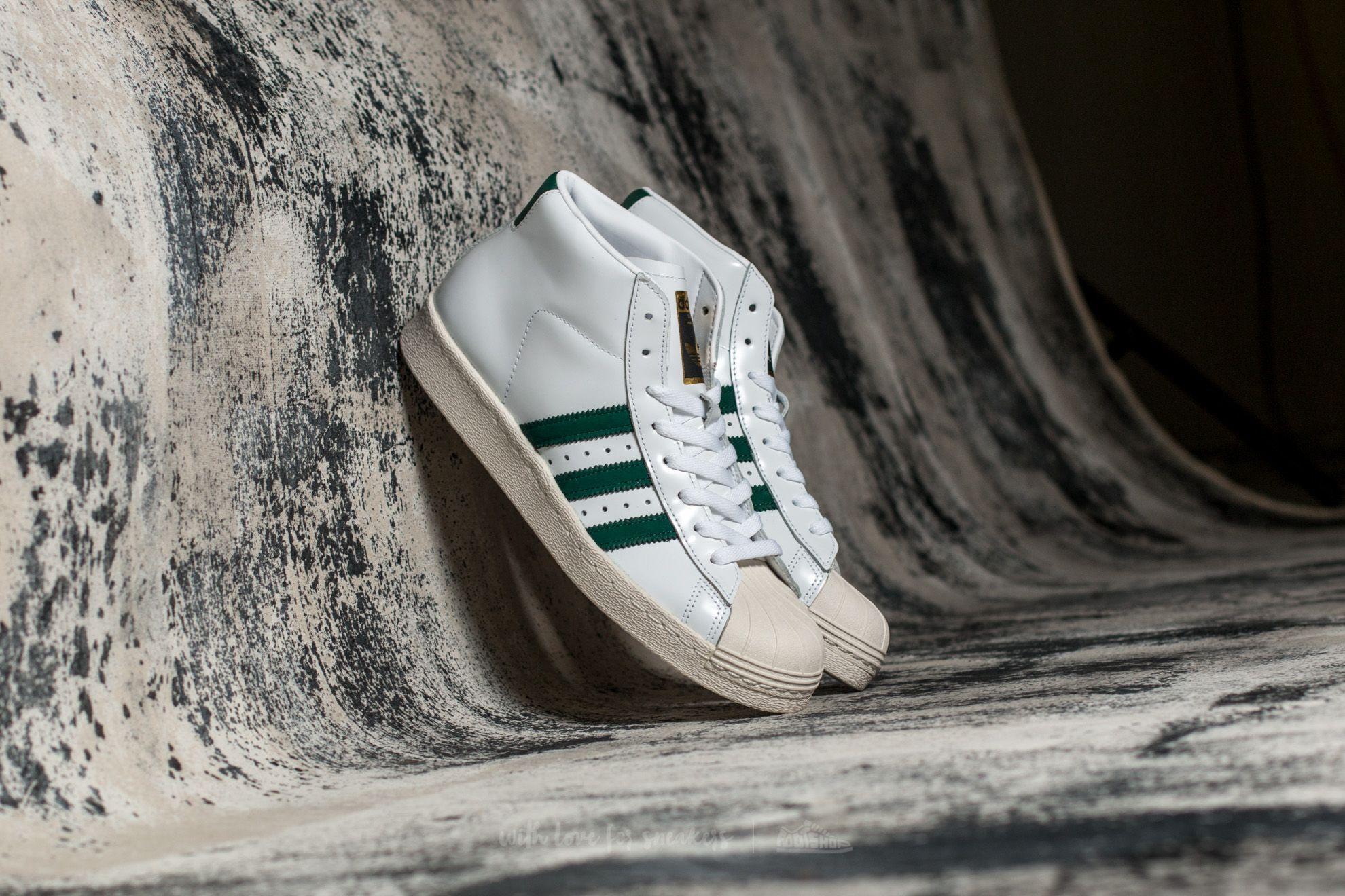 adidas Pro Model 80s Ftw White/ Core Green/ Core Black Footshop – FR