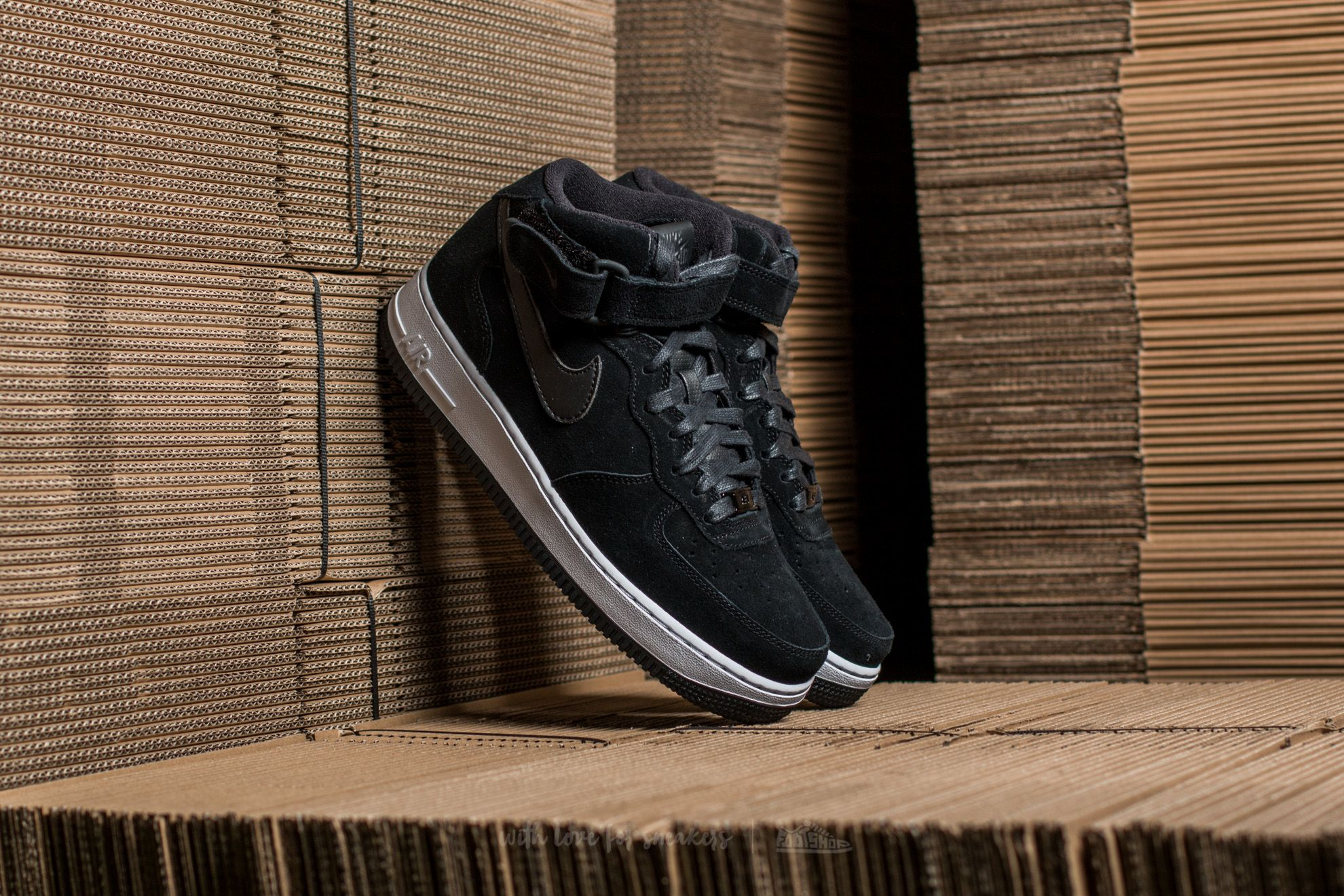 Nike W Air Force 1 ´07 Mid Seasonal Black/ Black-White Footshop – FR