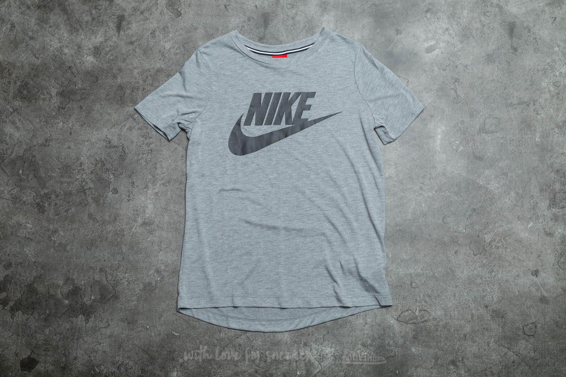 Nike W Sportswear Essential Top Dark Heather Grey/ Black