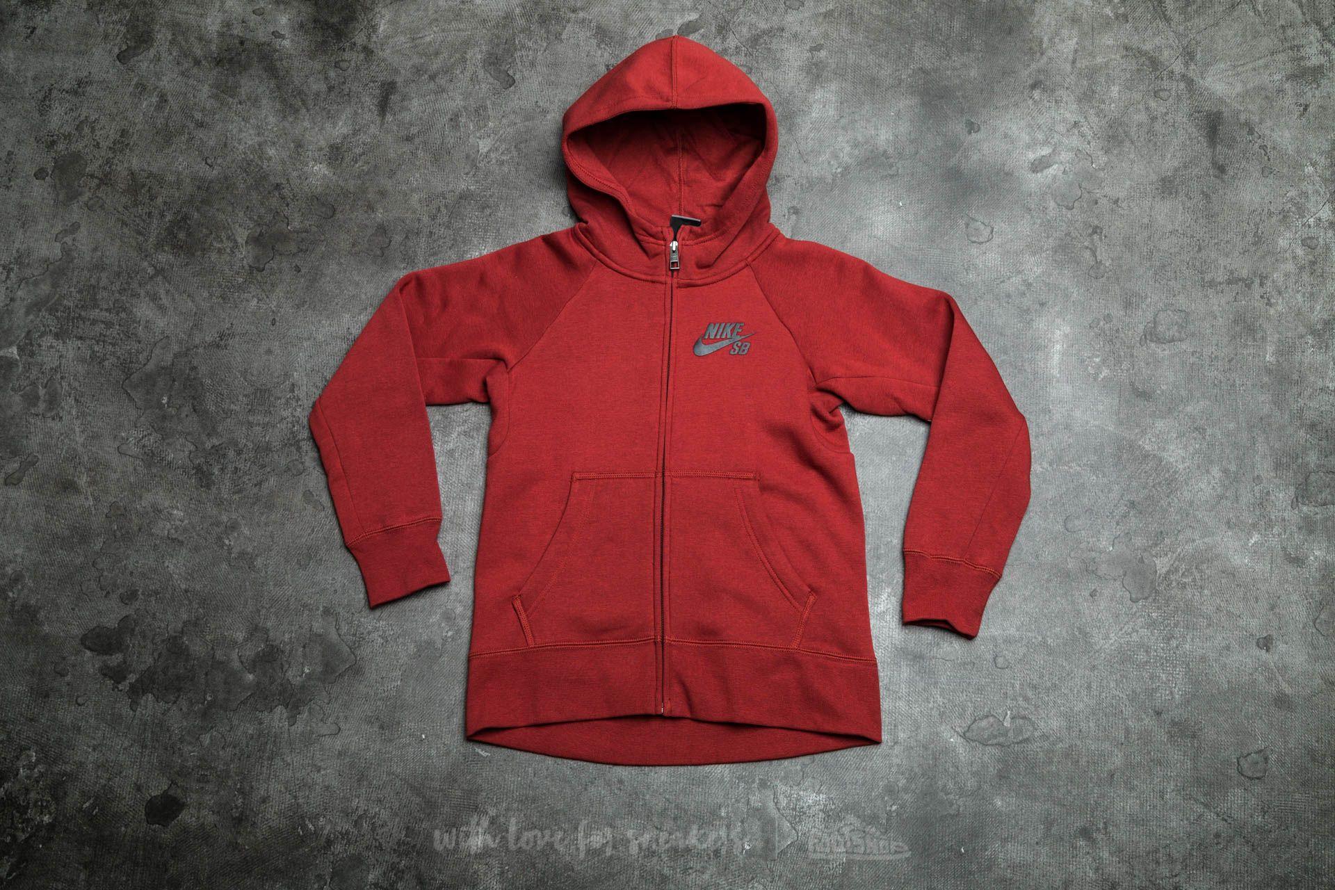 Nike SB Boys Icon Hoodie Dark Cayenne/ Black