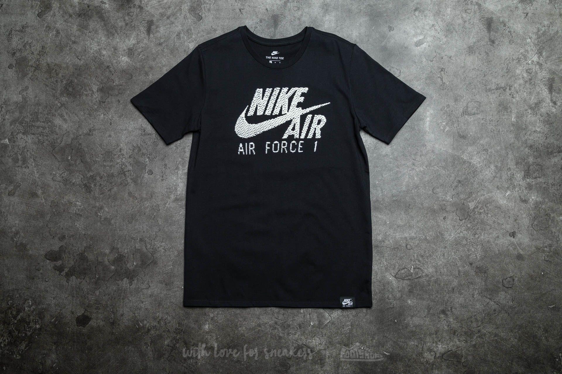 Nike Sportswear Air Force 1 Logo Tee Black/ White