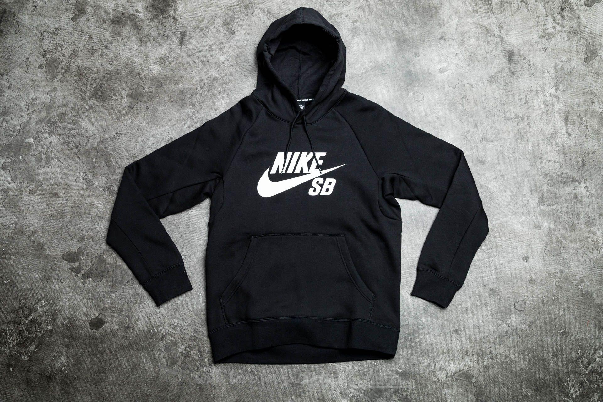 Nike SB Icon Hoodie Black/ White