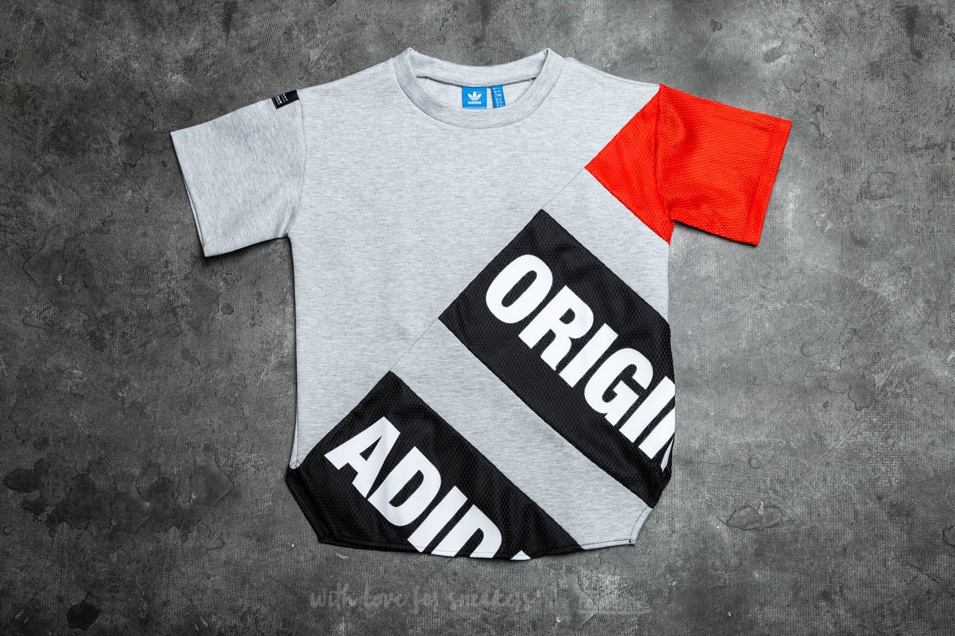 adidas Equipment T-Shirt Medium Grey Heather/ Black/ Core Red