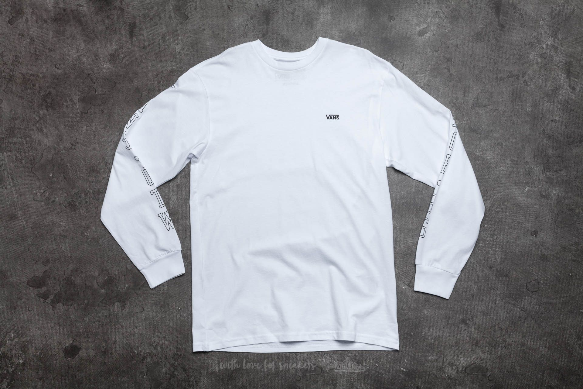 Vans Off The Wall Long Sleeve Tee White Footshop – FR