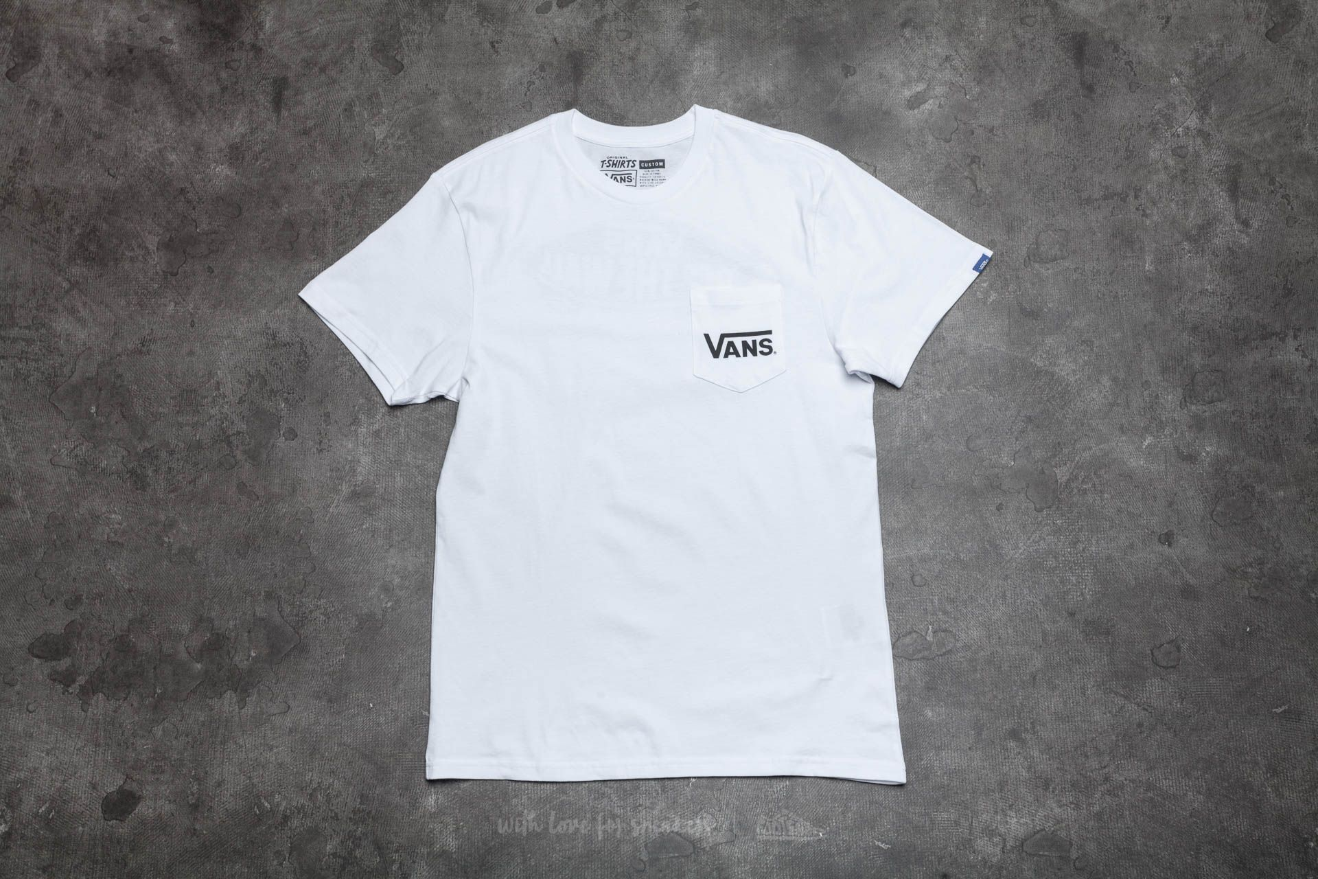 Vans Off The Wall Classic Tee White-Black Footshop – FR