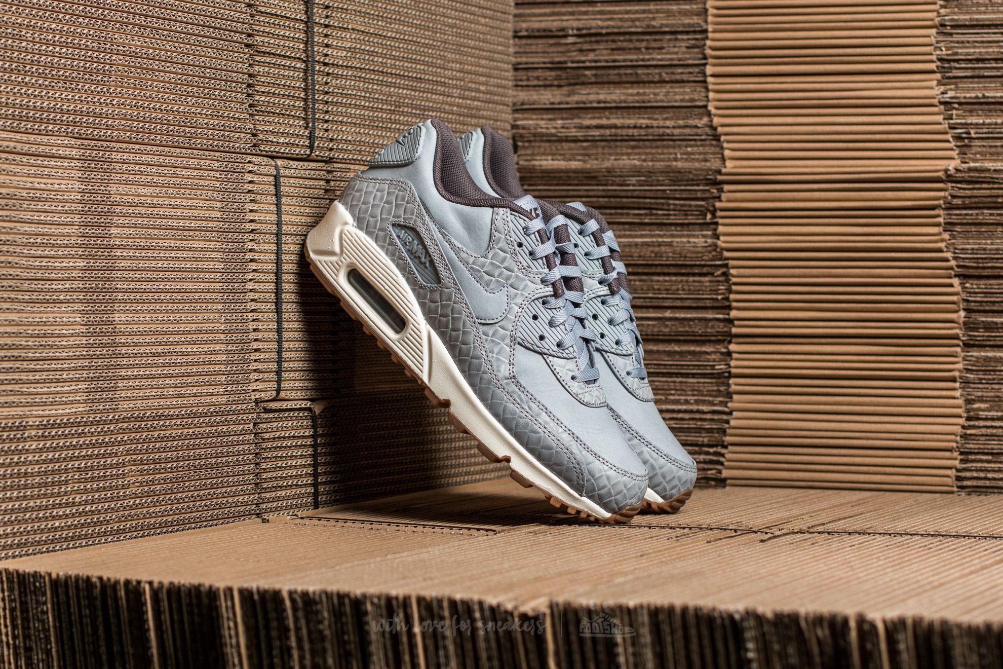 Nike Wmns Air Max 90 Premium Wolf Grey/ Wolf Grey-Sail