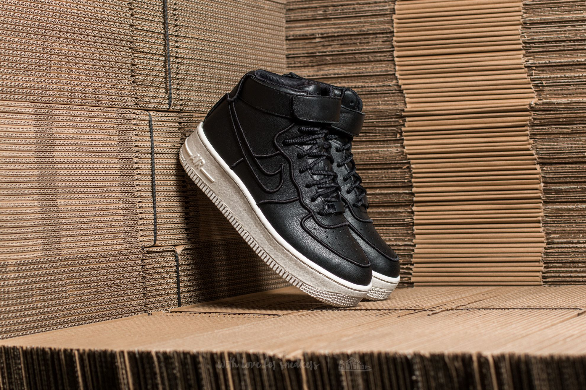 Nike Wmns Air Force 1 Upstep Hi SI Black/ Black-Ivory Footshop – FR