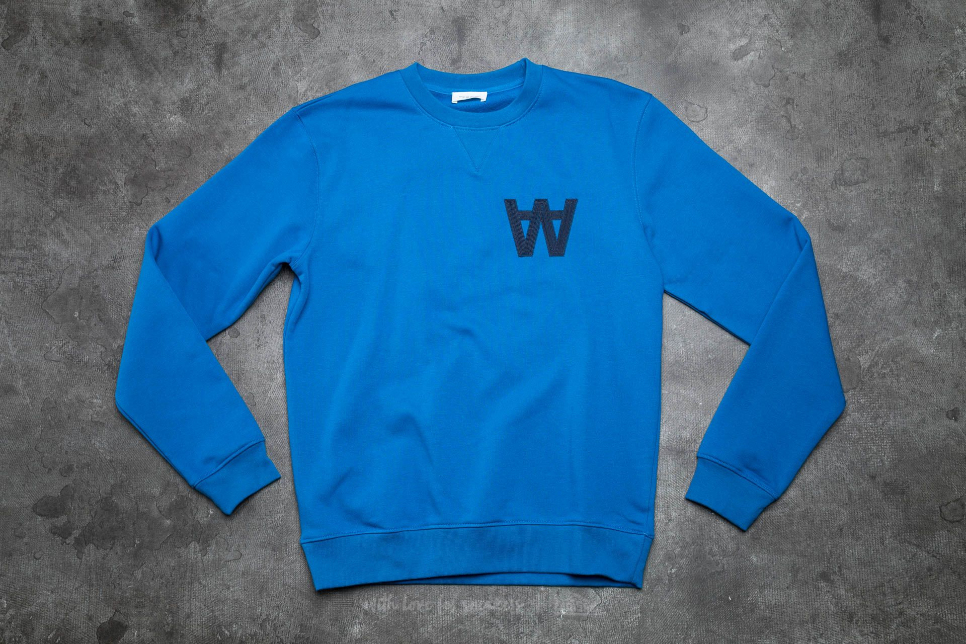 WOOD WOOD Houston Knitted Sweatshirt AA Imperial Blue