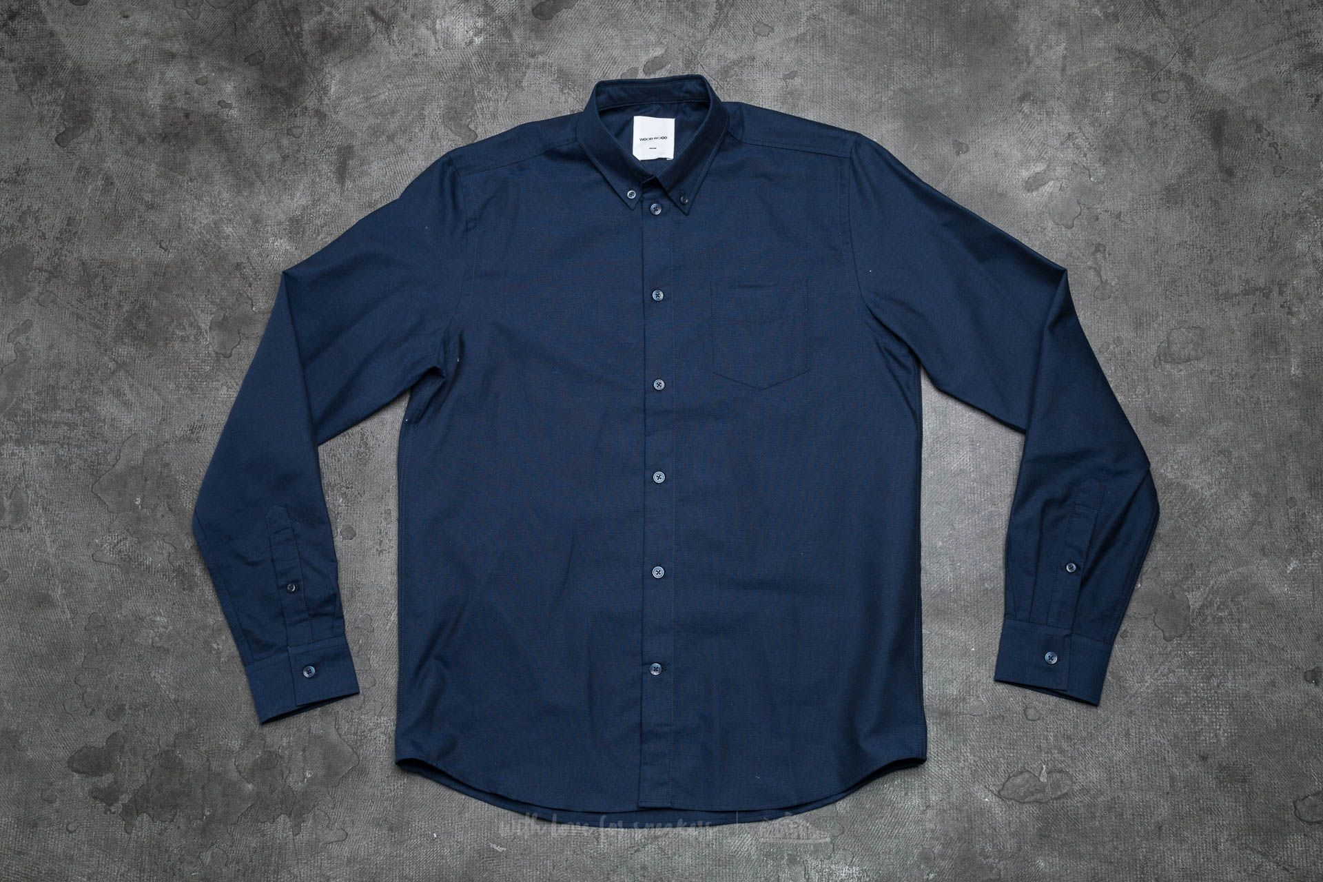 WOOD WOOD Timothy Shirt Navy