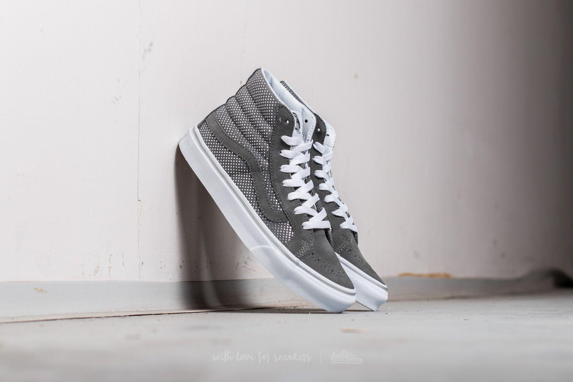 Vans Sk8-Hi Slim (Metallic Dots) Dark Grey