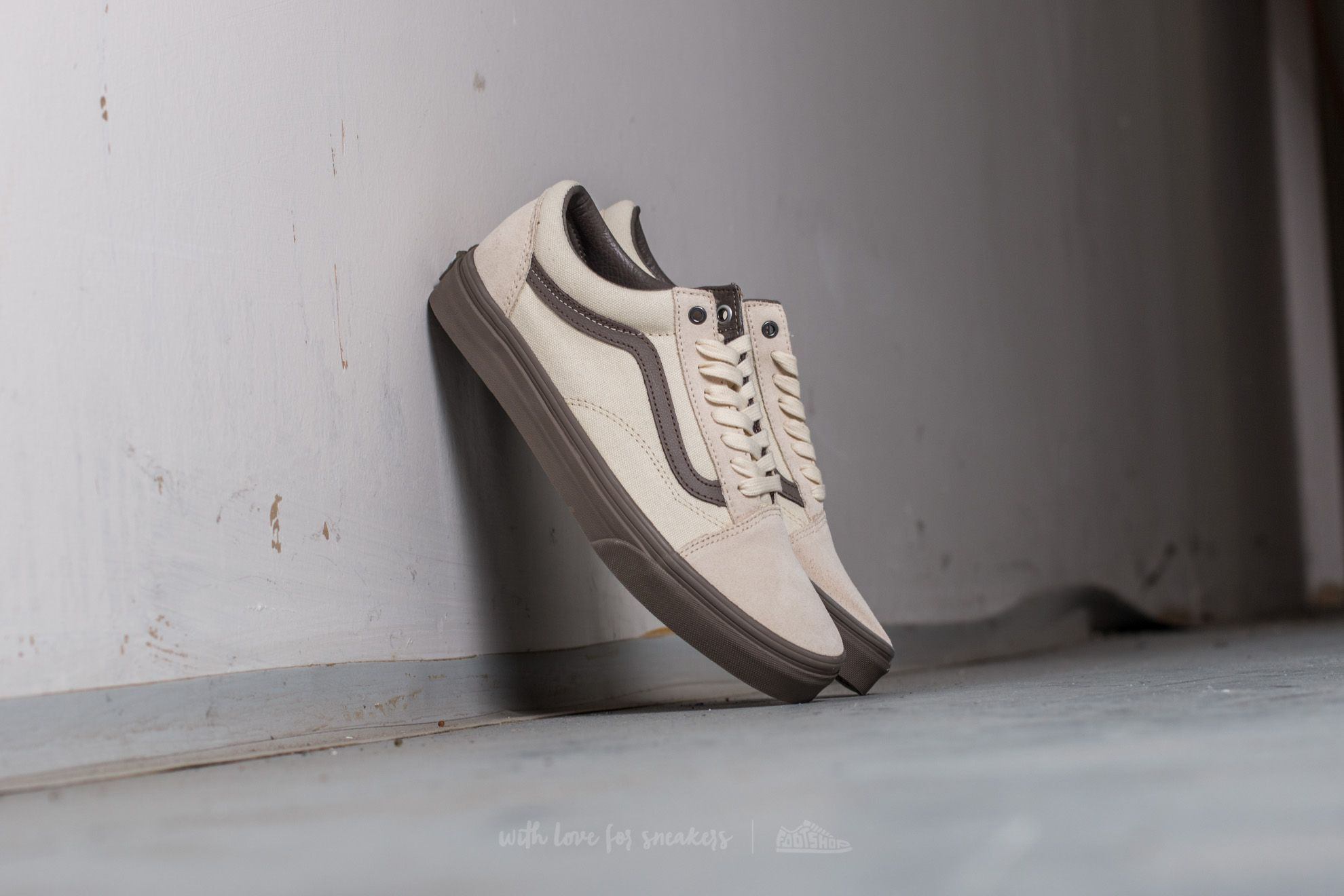 Vans Old Skool (C&D) Cream/ Walnut Footshop – FR