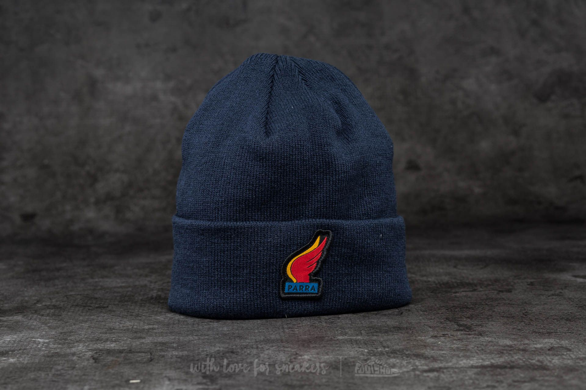 by Parra Wings Beanie Navy Blue