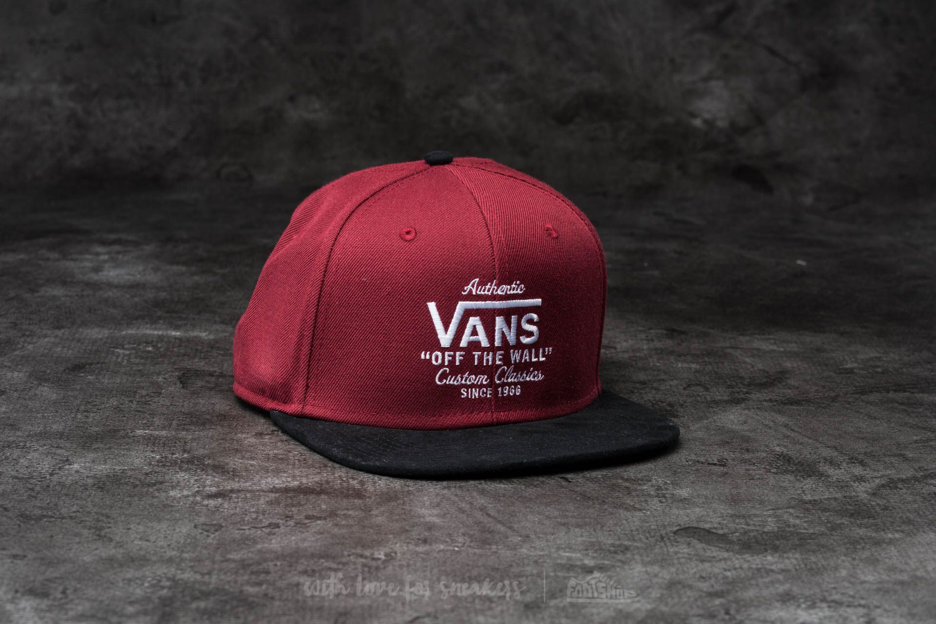 Vans Authentic Snapback Rhubarb-Black Footshop – FR