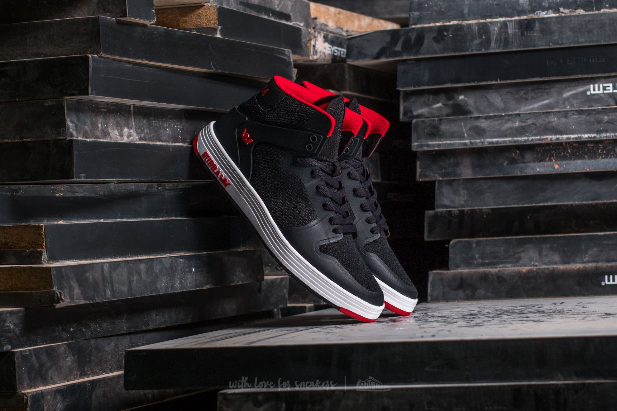 Supra Vaider 2.0 Black-Red Footshop – FR