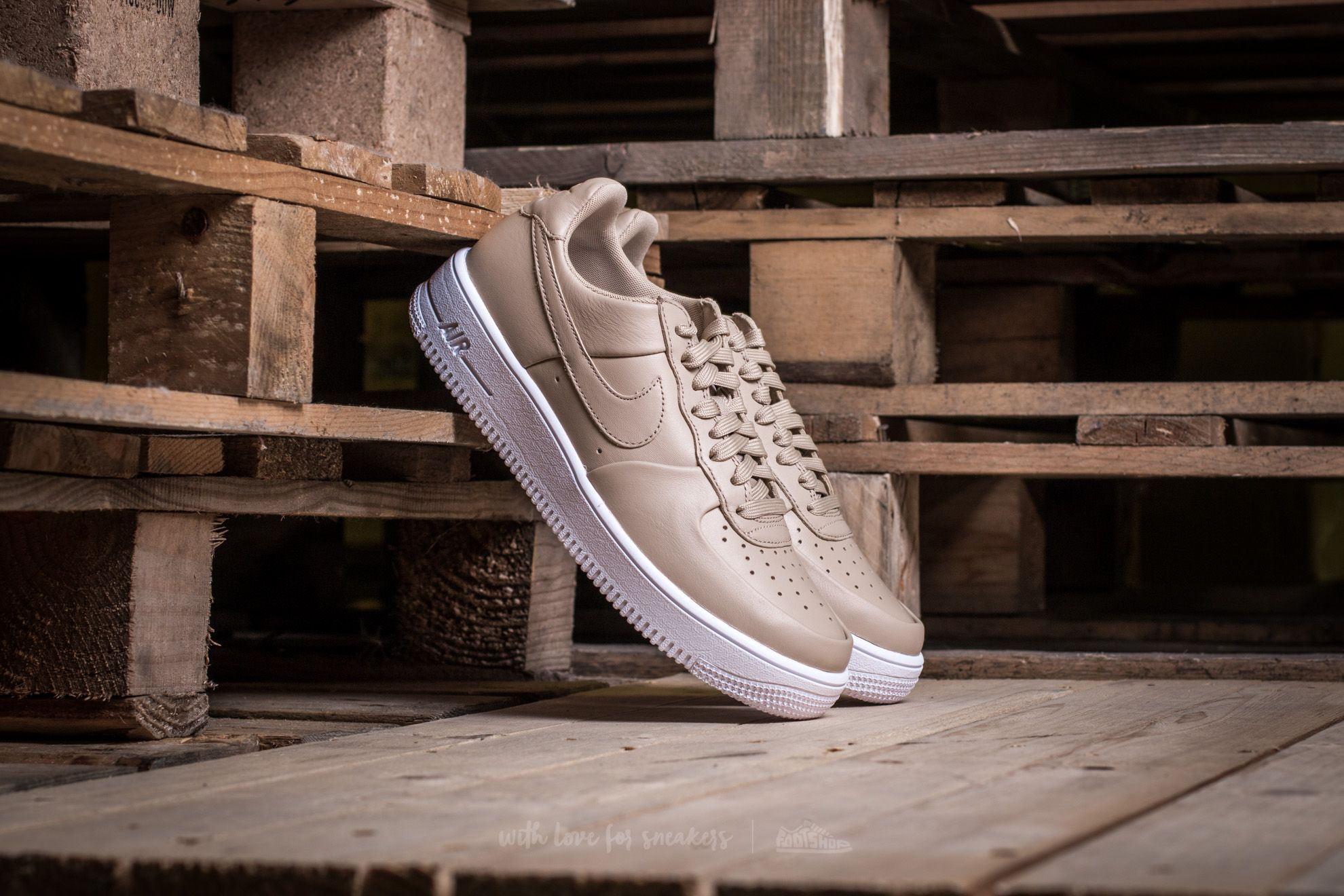 Nike Air Force 1 Ultraforce Lthr Linen/ Linen-White Footshop – FR