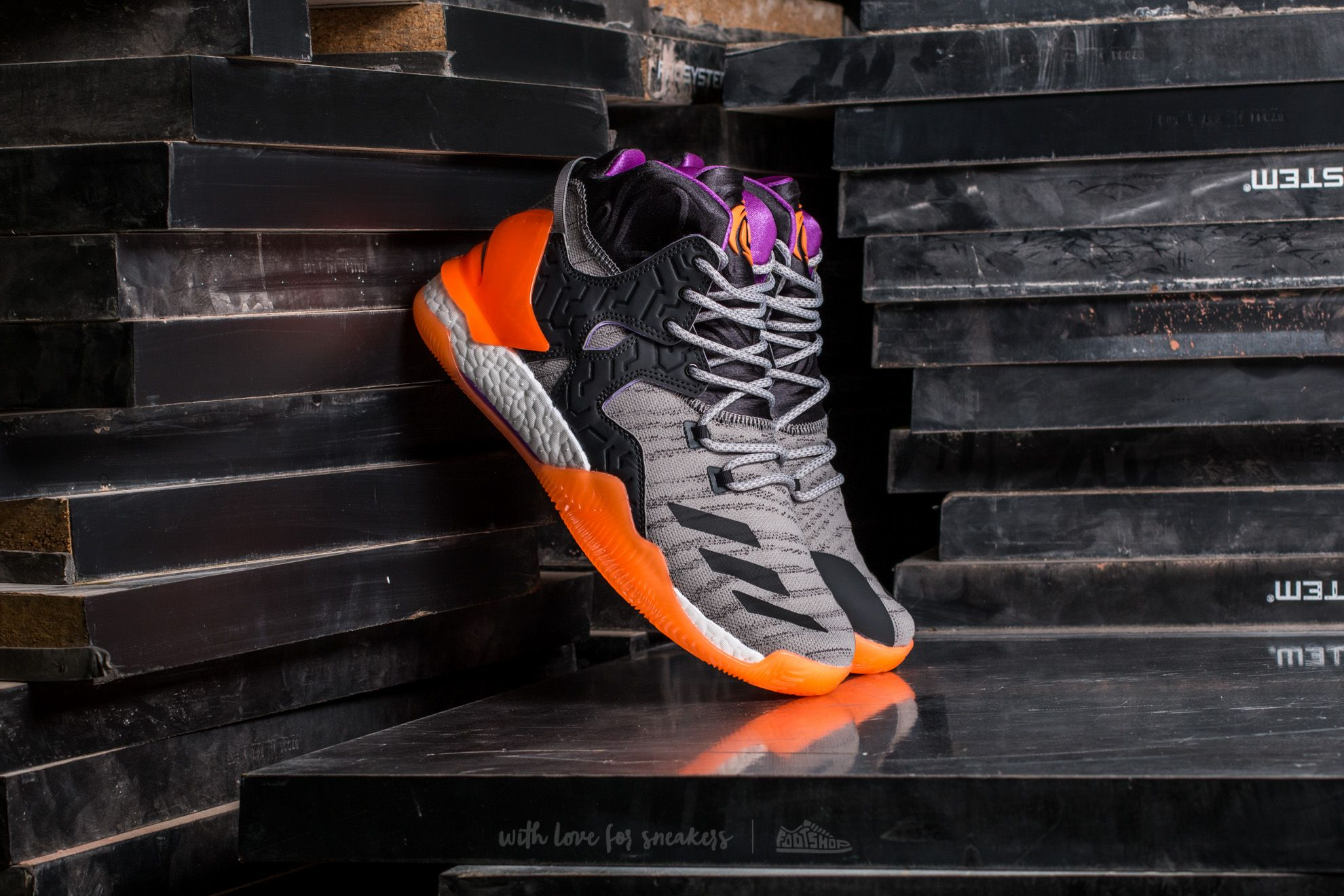 adidas D Rose 7 Primeknit Solid Grey / Solid Grey/ Glow Orange Footshop – FR