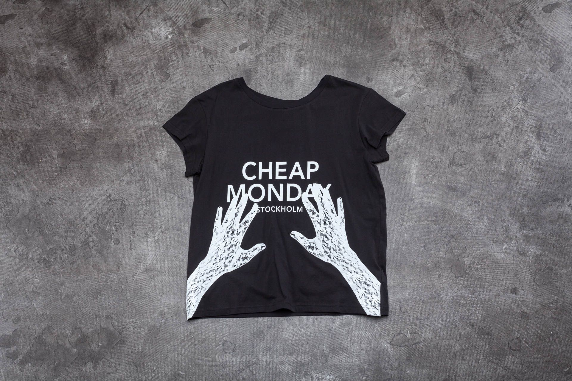 Cheap Monday Hands On Have Tee Black Footshop – FR