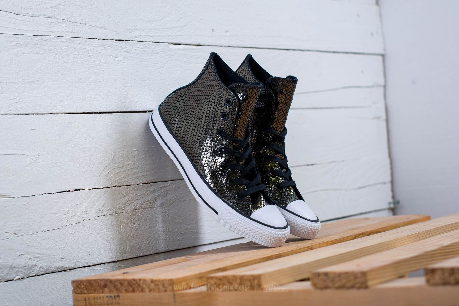 Converse Chuck Taylor All Star Hi Black/ Black/ White Footshop – FR