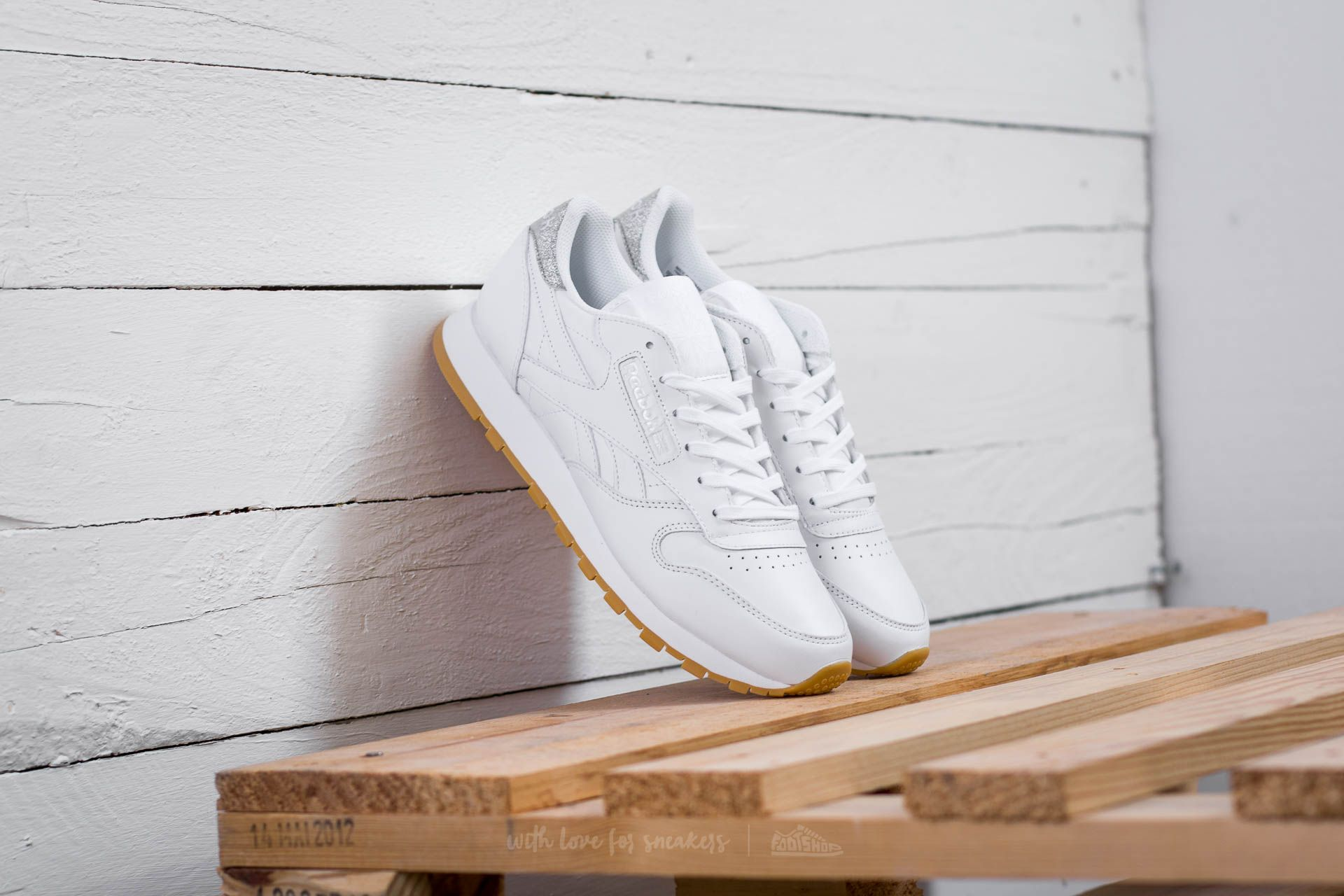 Reebok Classic Leather Met Diamond W White/ Gum