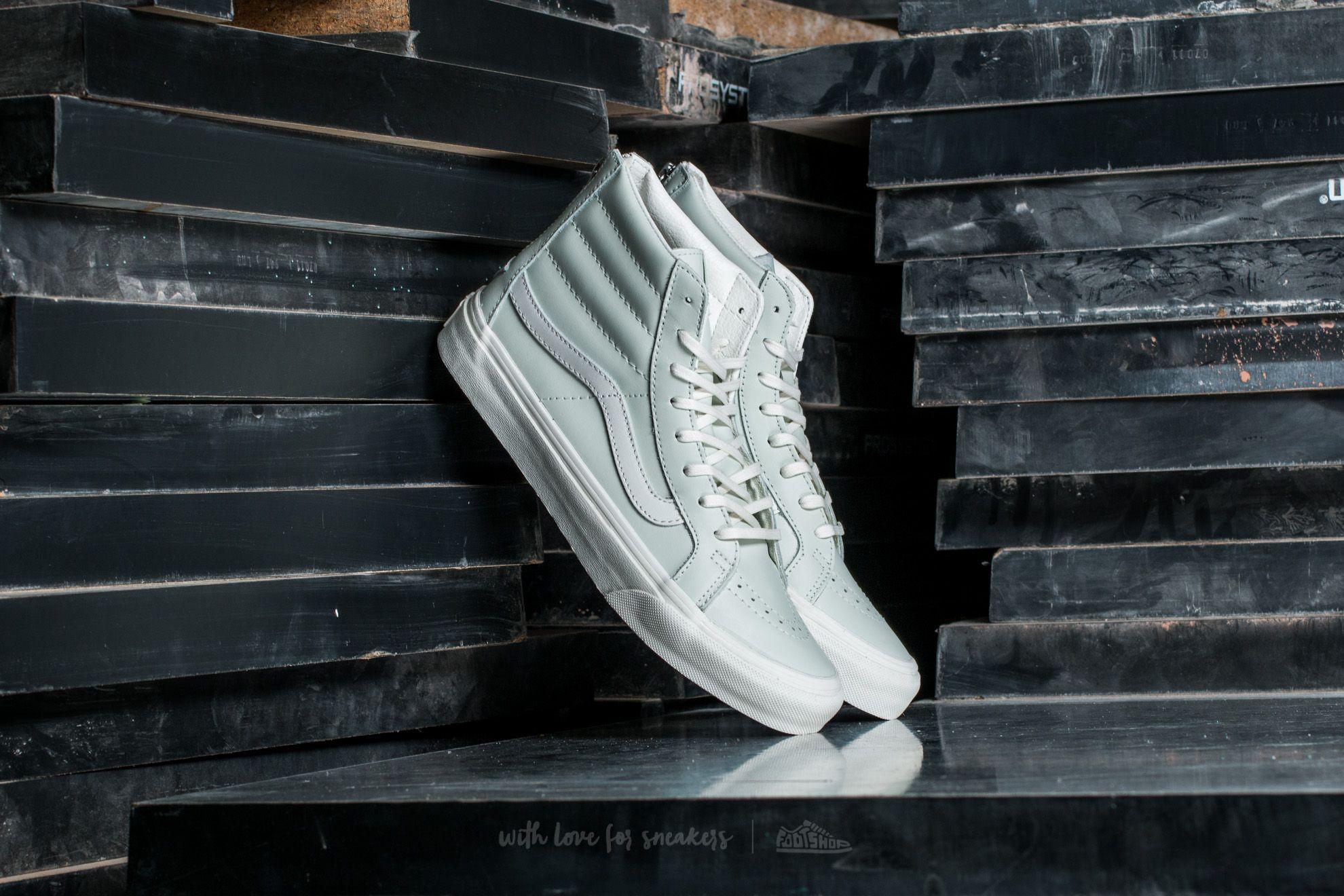 Vans Sk8-Hi Slim Zip Leather Zephyr Blue/ Blanc De Blanc Footshop – FR