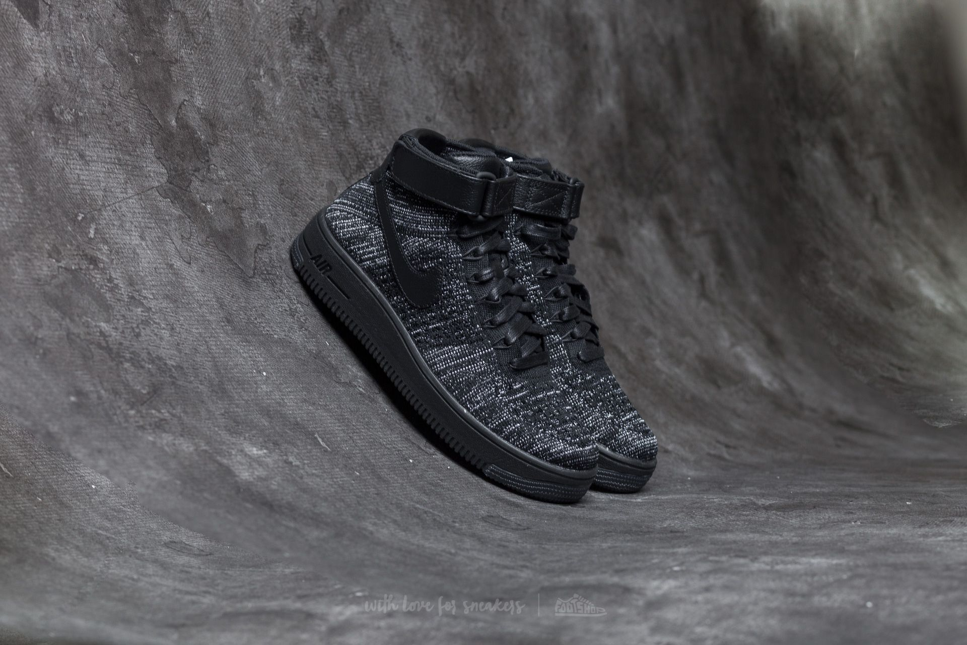 Nike W Air Force 1 Flyknit Black/ Black-White Footshop – FR
