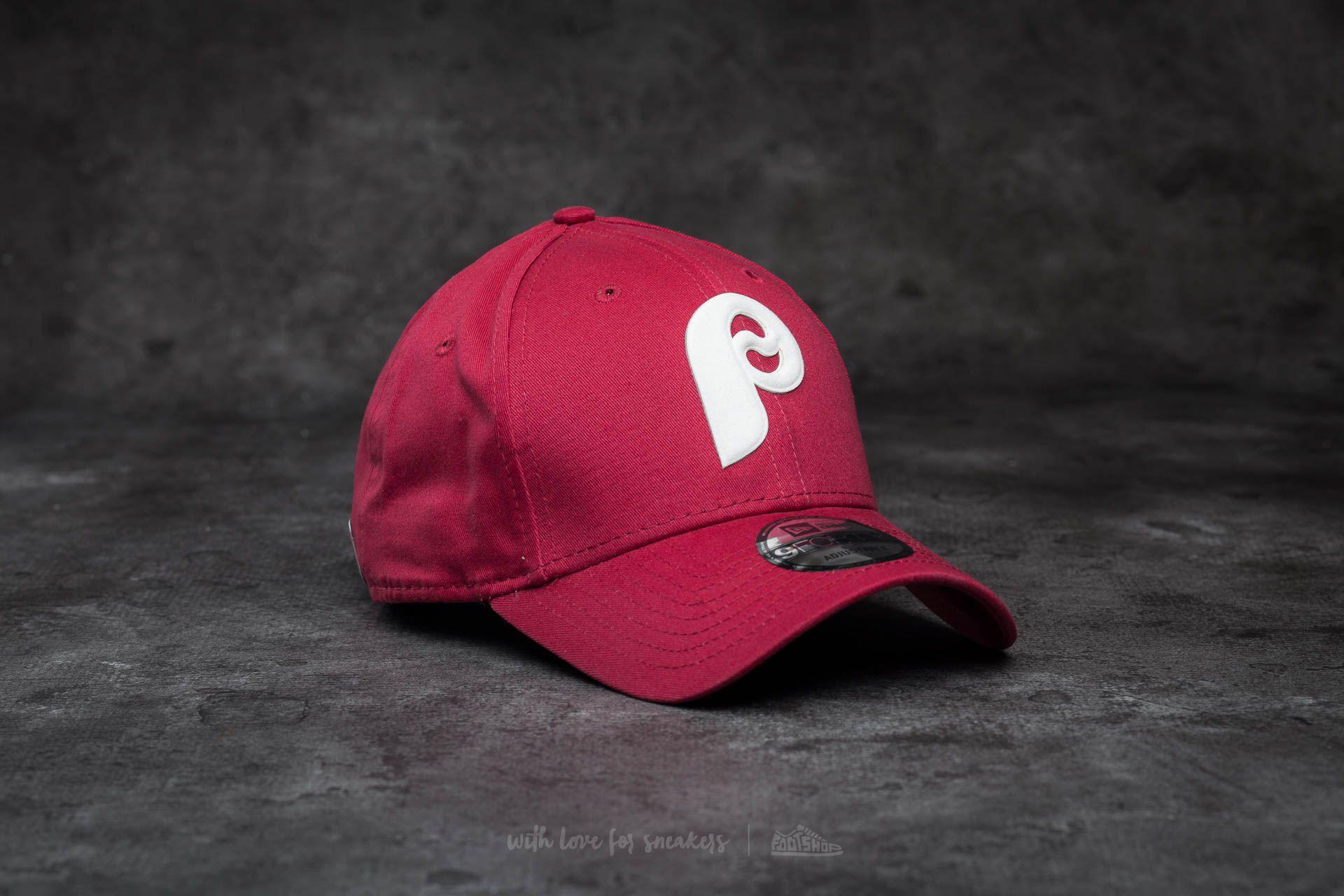 New Era 9Forty Flock Logo Philadelphia Phillies Cap Cardinal Red Footshop – FR