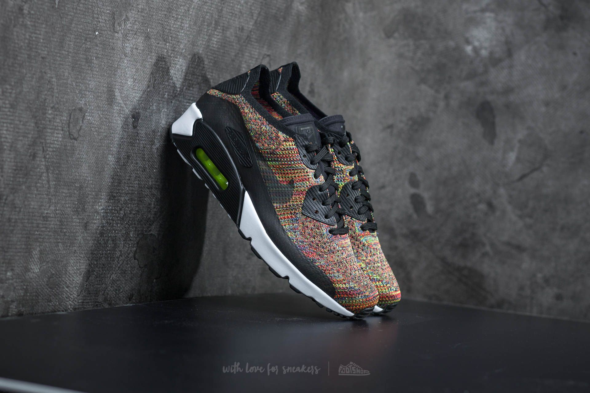 Nike Air Max 90 Ultra 2.0 Flyknit Black/ Bright Crimson Footshop – FR