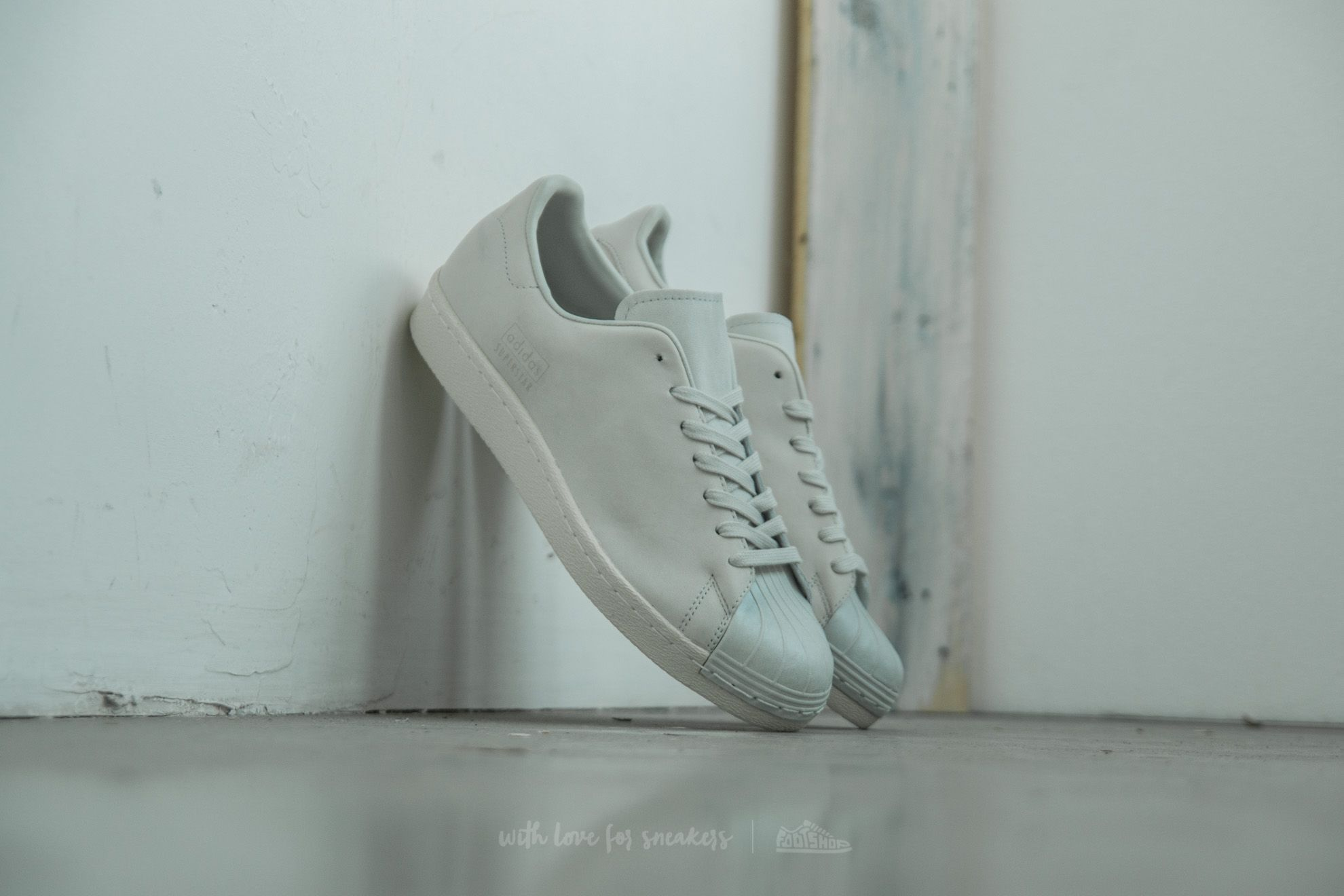 adidas Superstar 80s Clean Crystal White/ Crystal White/ Off White Footshop – FR