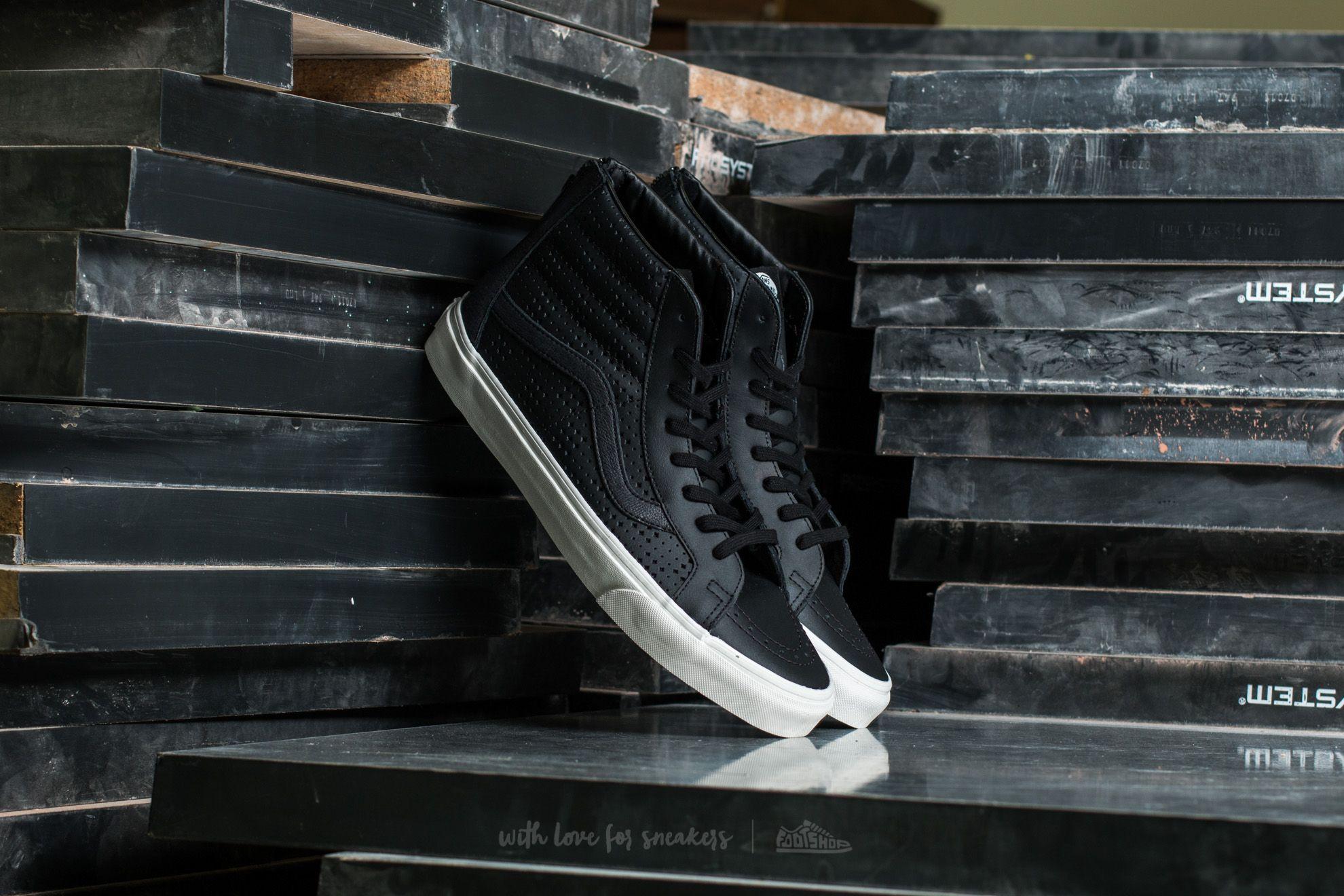 Vans Sk8-Hi Reissue Zi (Leather Perf) Black Footshop – FR