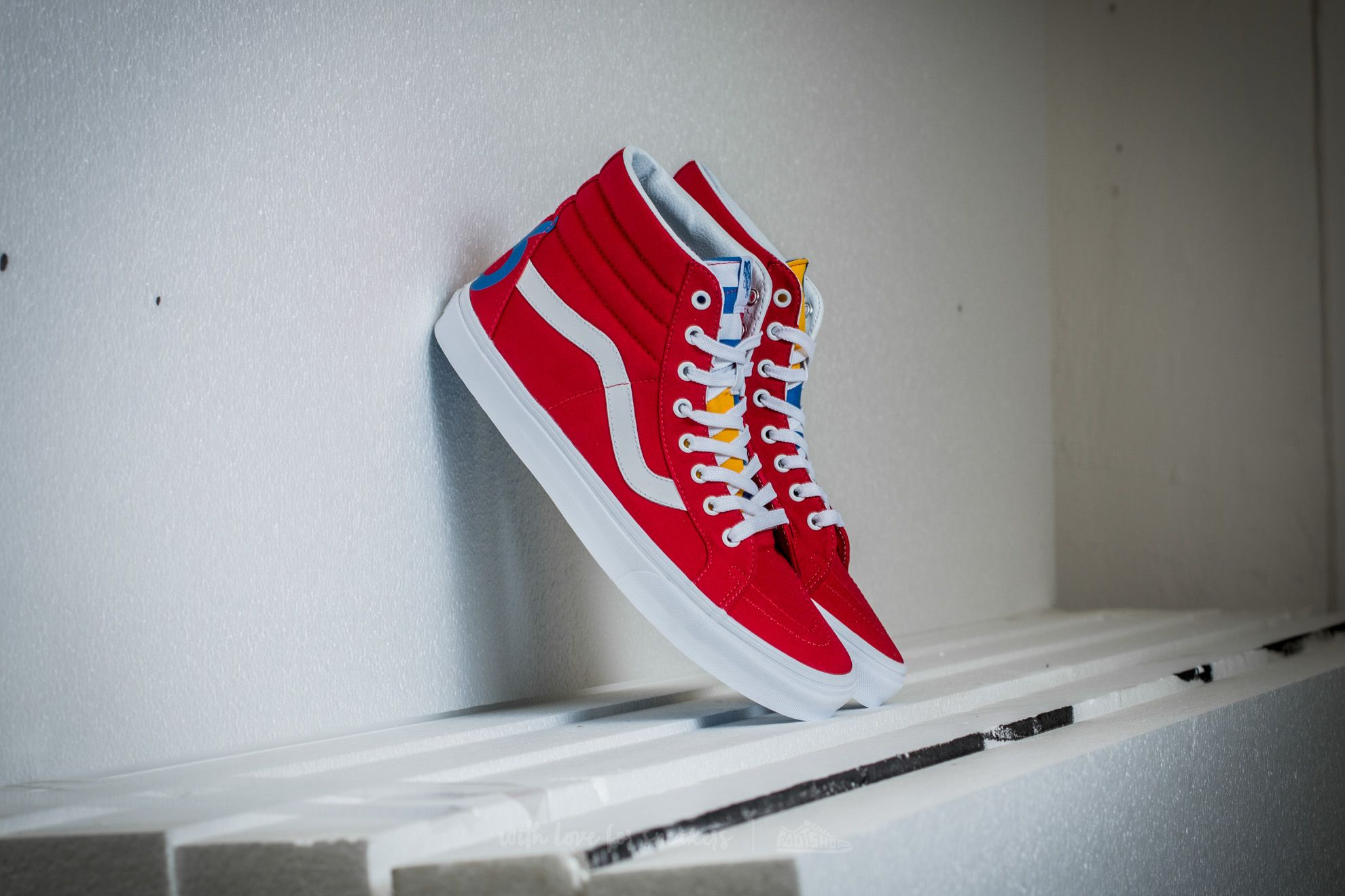 Vans Sk8-Hi Reissue (1966) Red/ Blue/ True White Footshop – FR