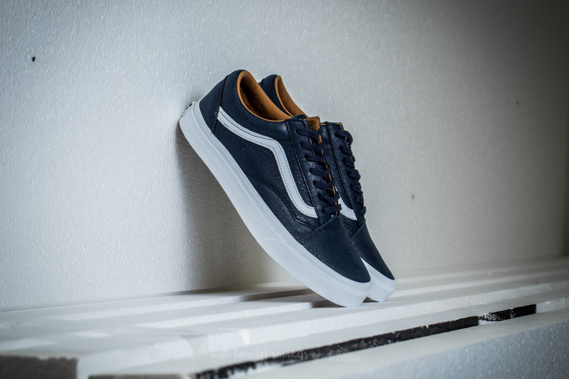 Vans Old Skool Premium Leather Parisian Night/ True White Footshop – FR