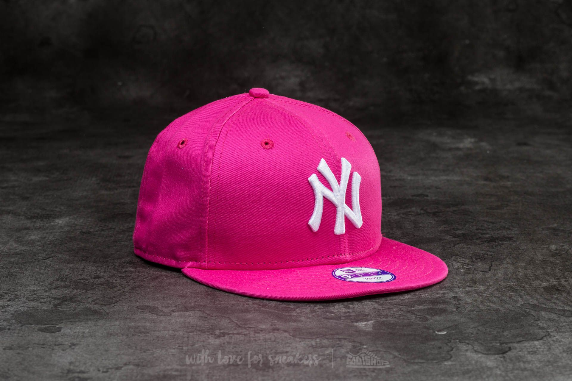 New Era 9Fifty Youth MLB Basic New York Yankees Cap Pink/ White Footshop – FR