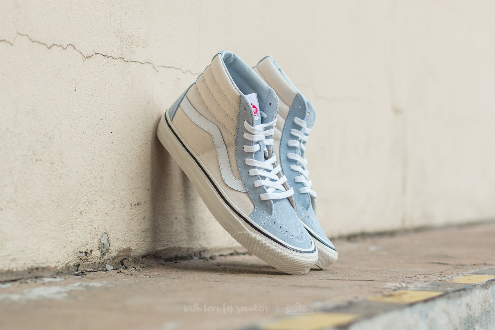 Vans Sk8-Hi 38 DX (Anaheim Factory) Light Blue/ True White Footshop – FR