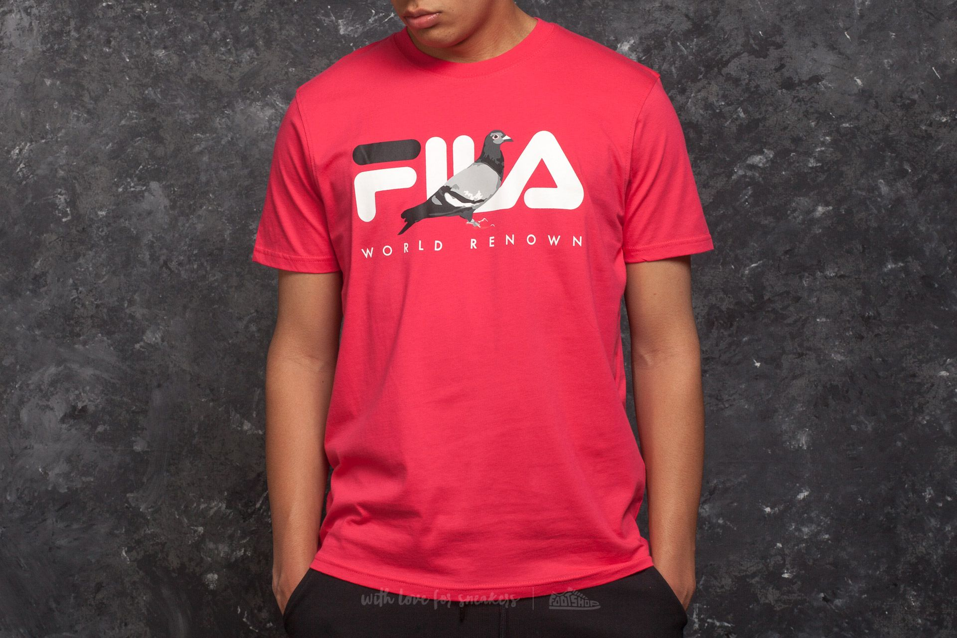 Staple x FILA Graphic Tee Red Footshop – FR