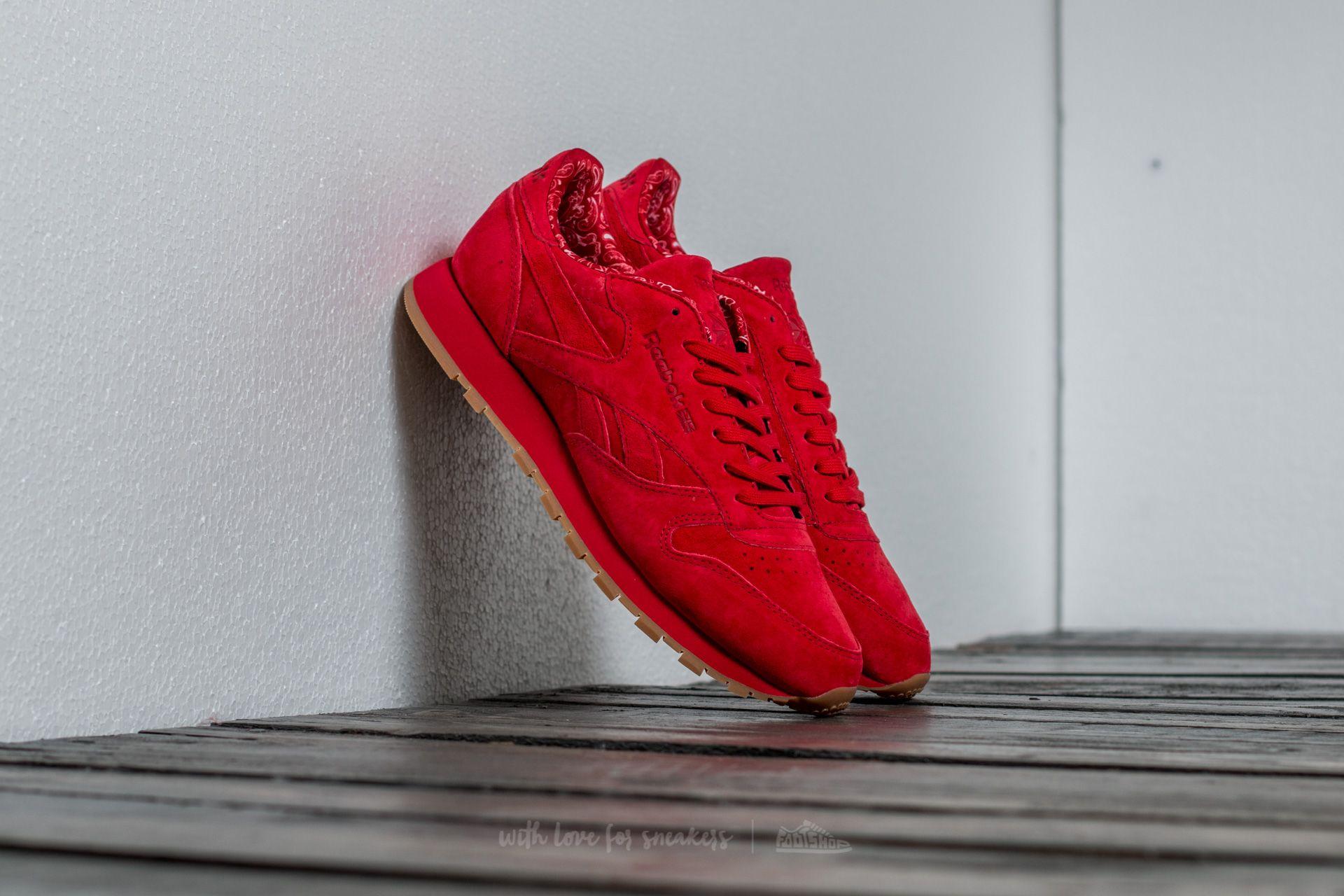 Reebok Classic Leather TDC Scarlet/ White-Gum Footshop – FR