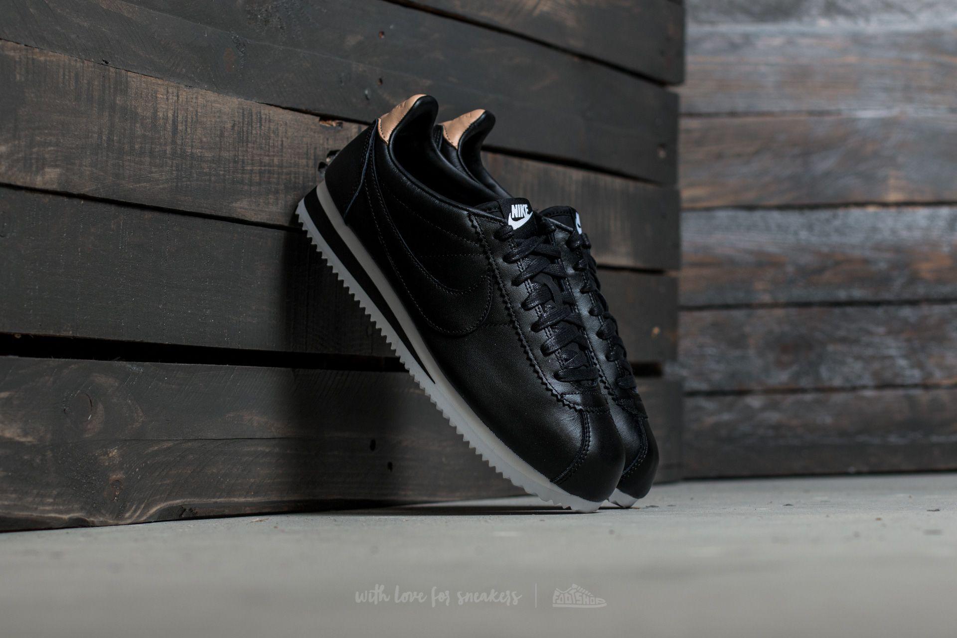 Nike Classic Cortez Leather SE Black/ Black-White-Vachetta Tan Footshop – FR