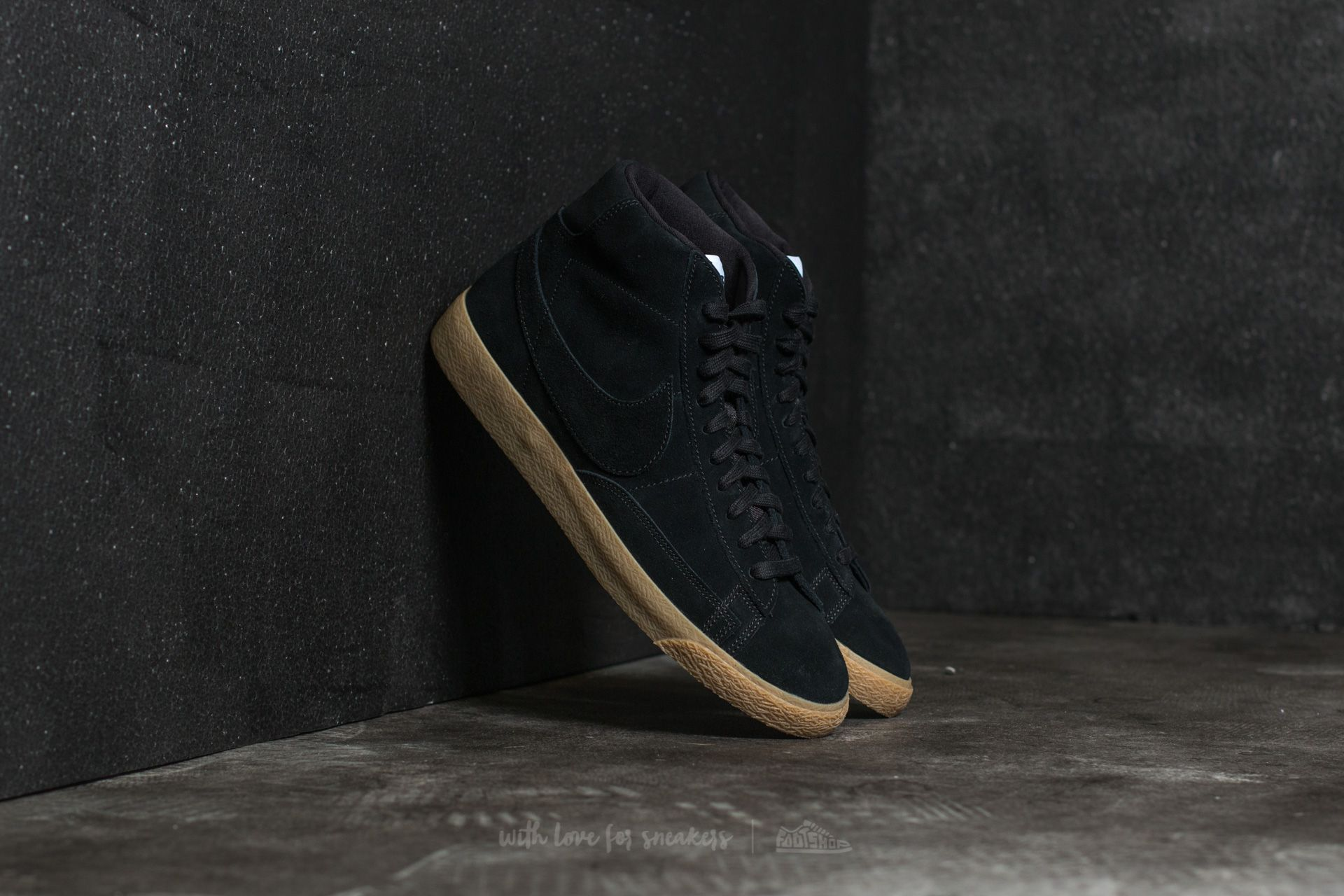 Nike Blazer Mid Premium Black/ Black-Gum Light Brown Footshop – FR