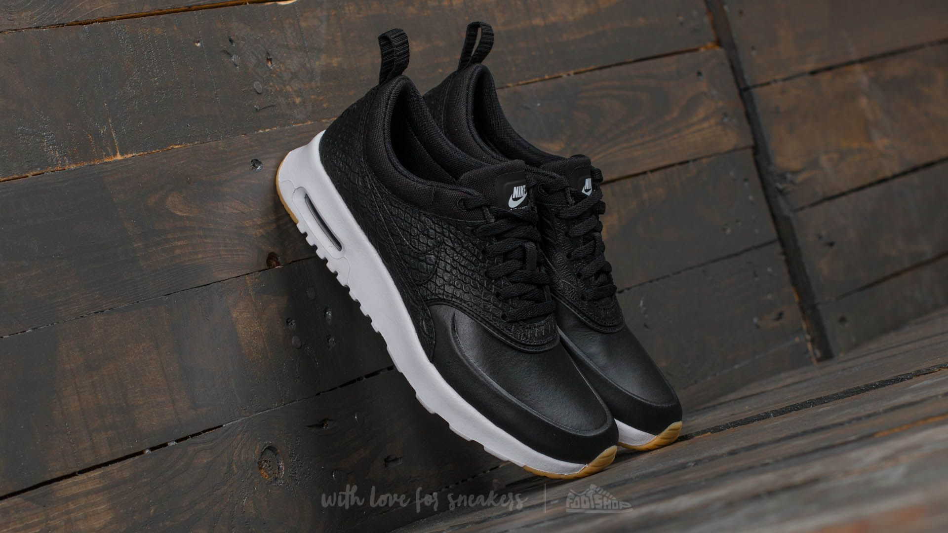 Nike Wmns Air Max Thea Premium Black/ Black-Gum Yellow-White Footshop – FR