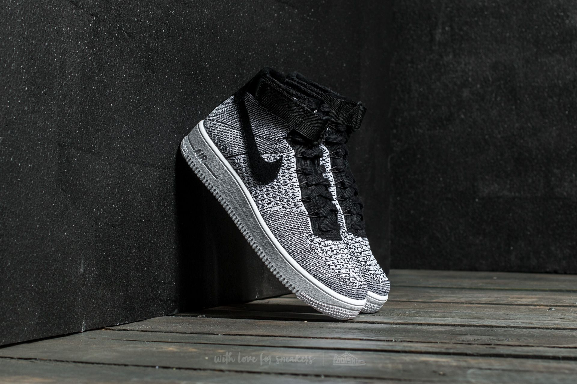 Nike Air Force 1 Ultra Flyknit MID Black/ Black-White Footshop – FR
