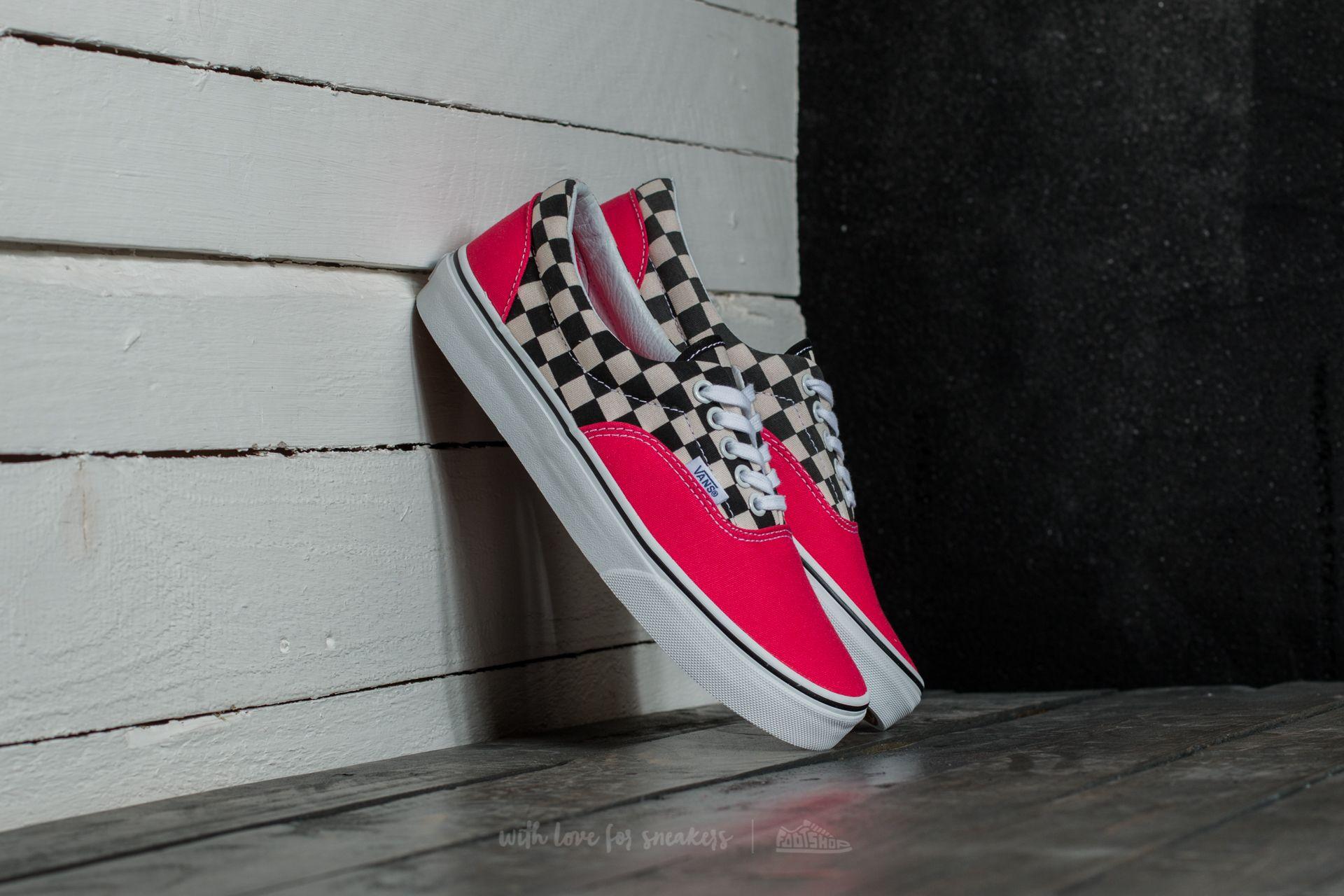 Vans Era (2-Tone Check) Rouge Red/ True White Footshop – FR