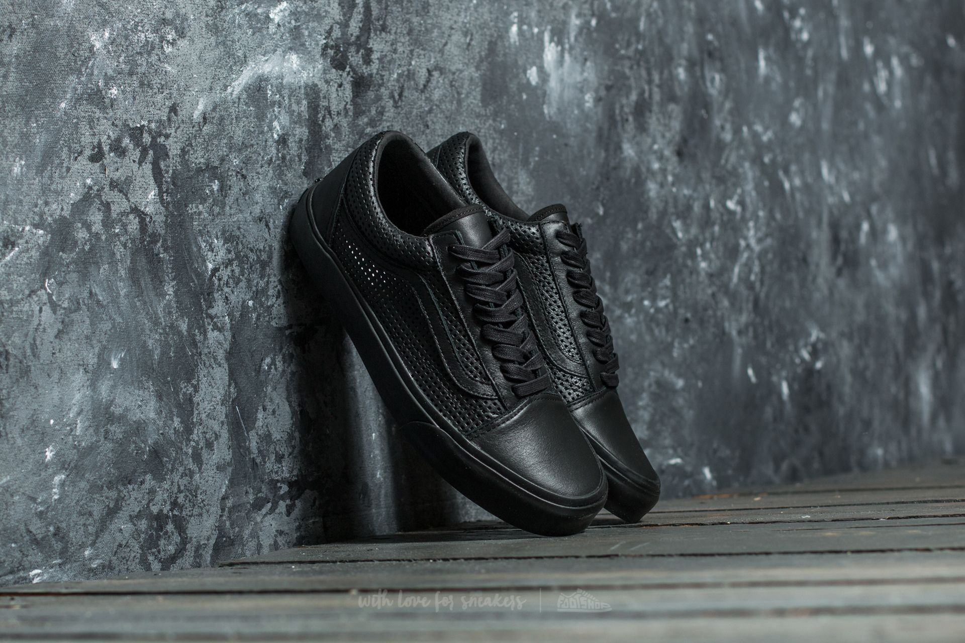 Vans Old Skool DX (Square Perf) Black/ Black Footshop – FR