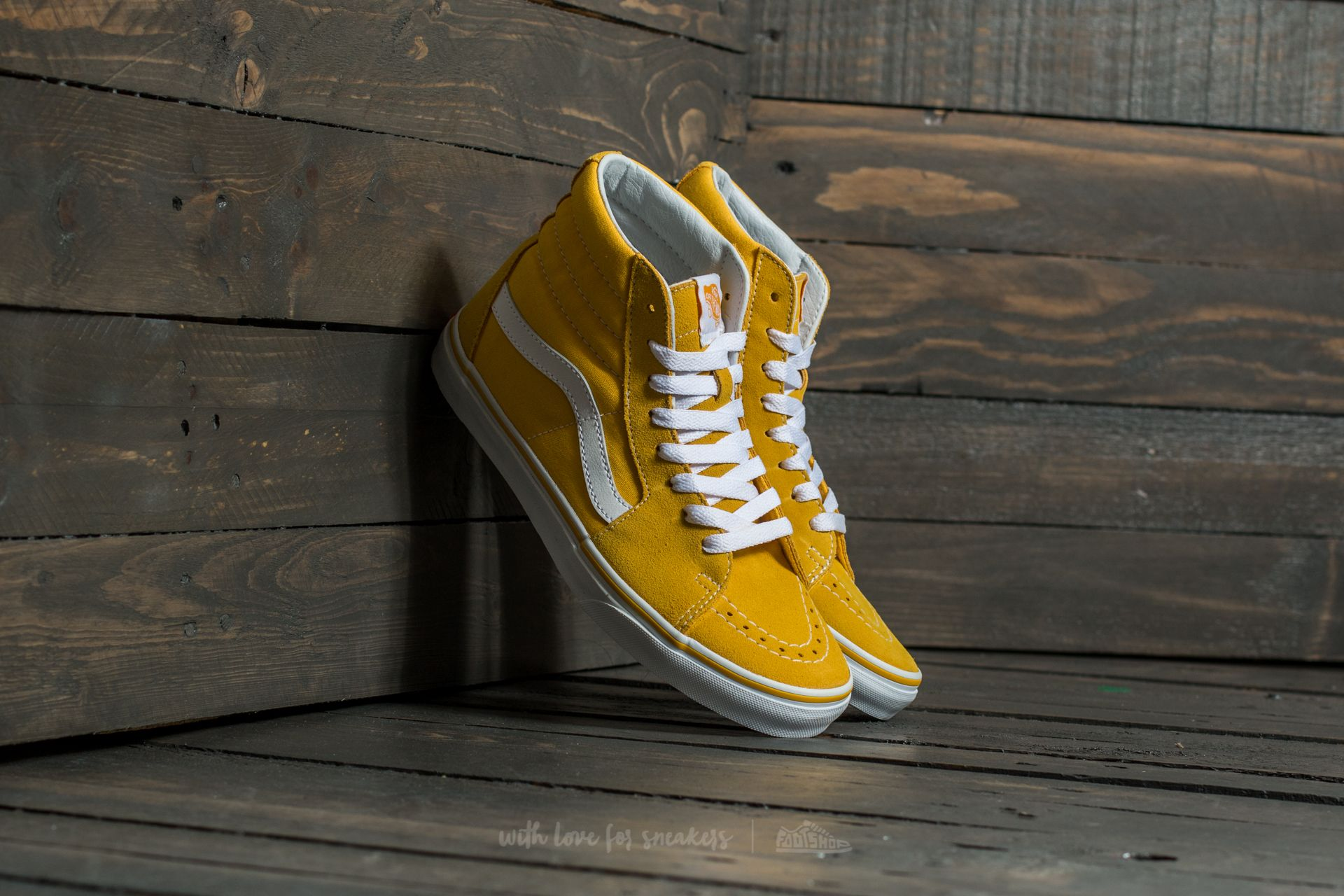Vans Sk8-Hi (Suede/Canvas) Spectra Yellow/ True White Footshop – FR