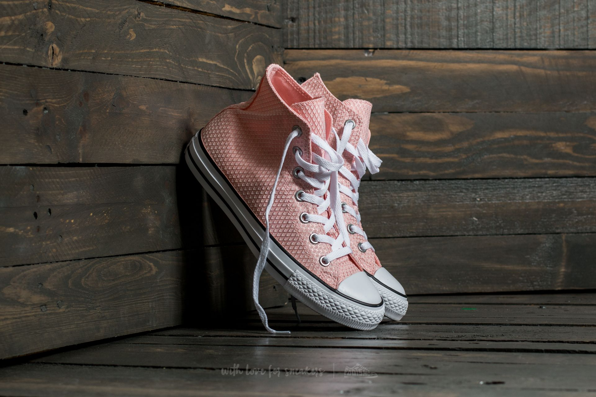 Converse Chuck Taylor All Star Hi White/ Vapor Pink/ White Footshop – FR