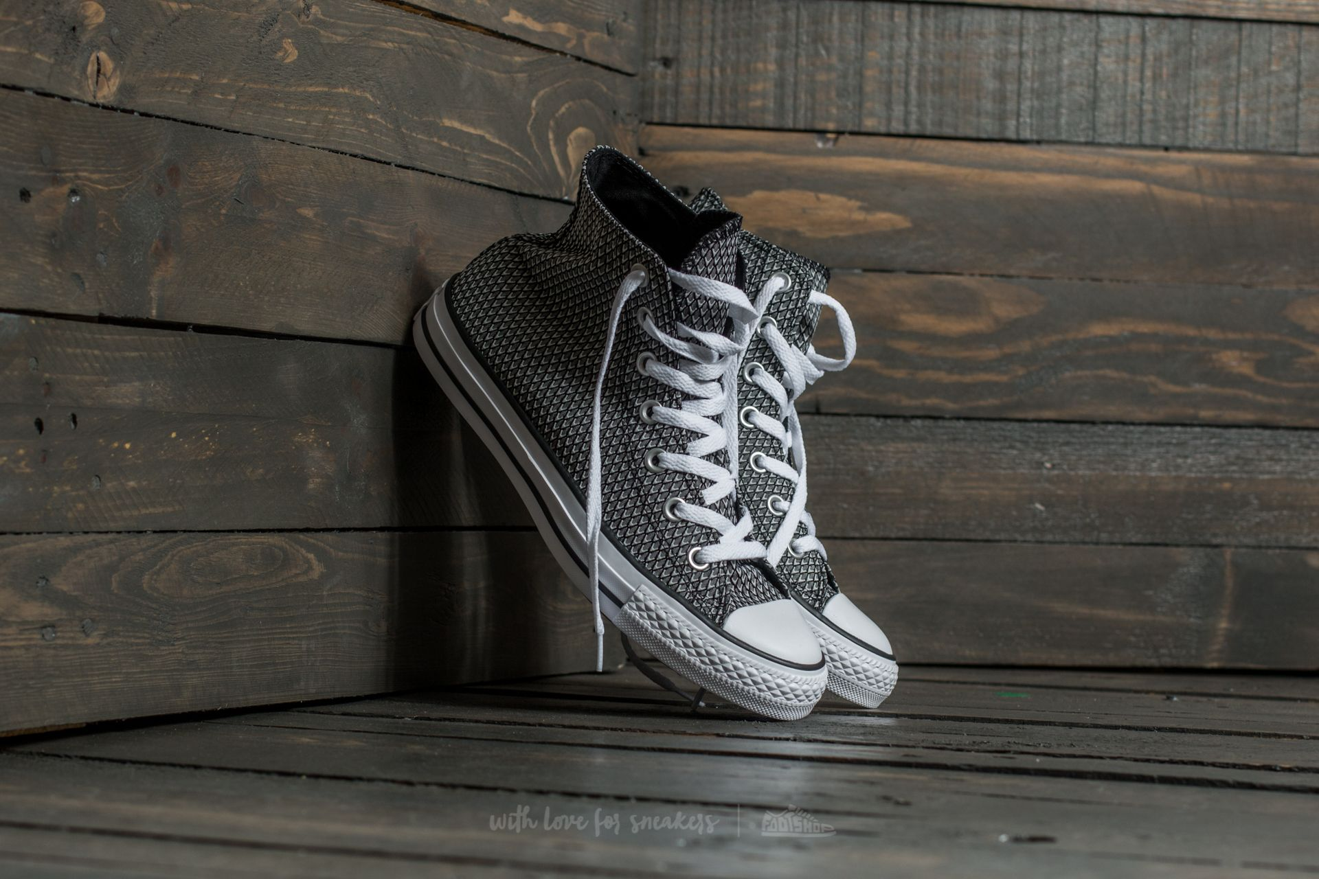 Converse Chuck Taylor All Star Hi White/ Black/ White Footshop – FR