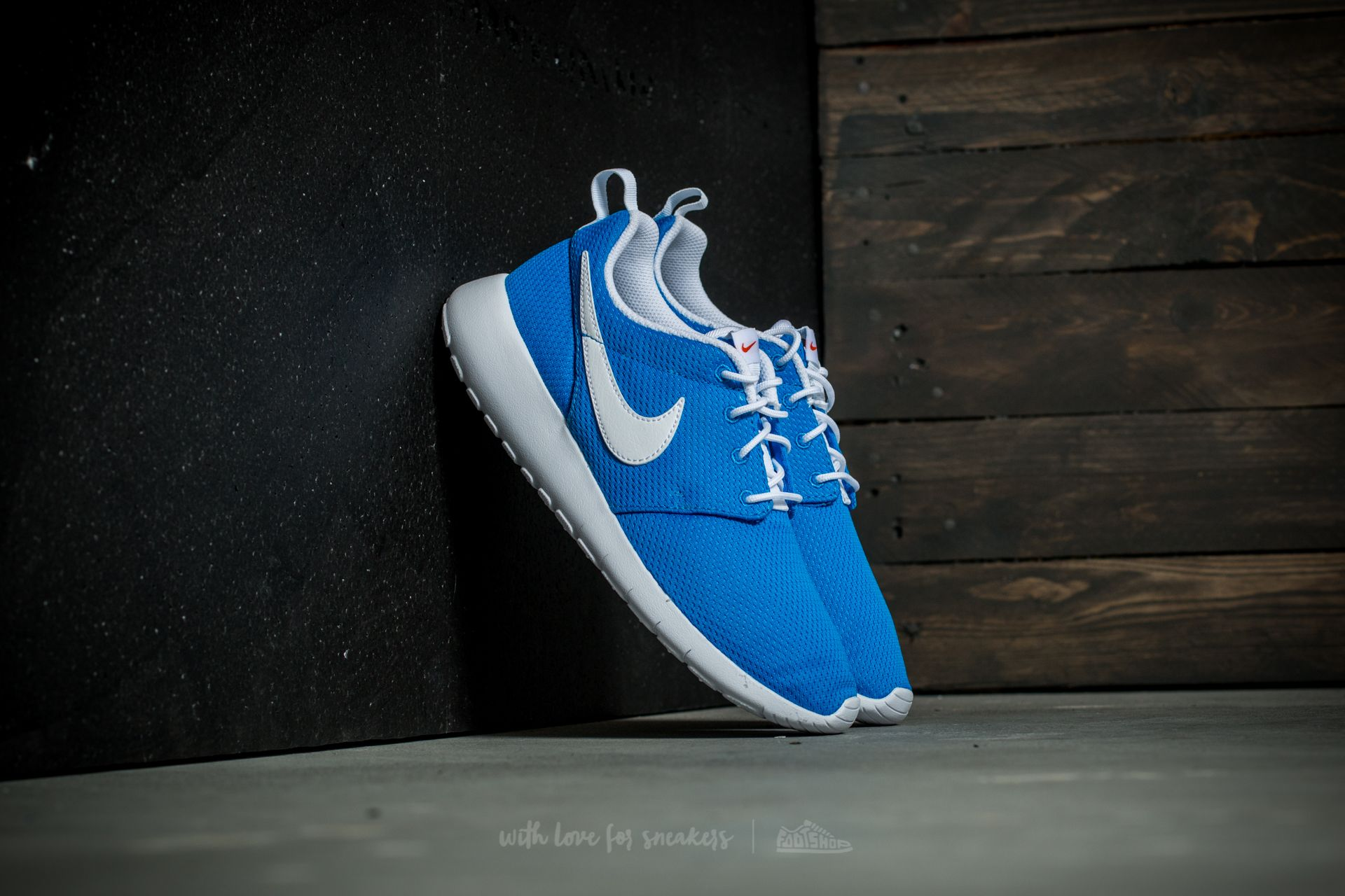 Nike Roshe One (GS) Photo Blue/ White-Safety Orange Footshop – FR