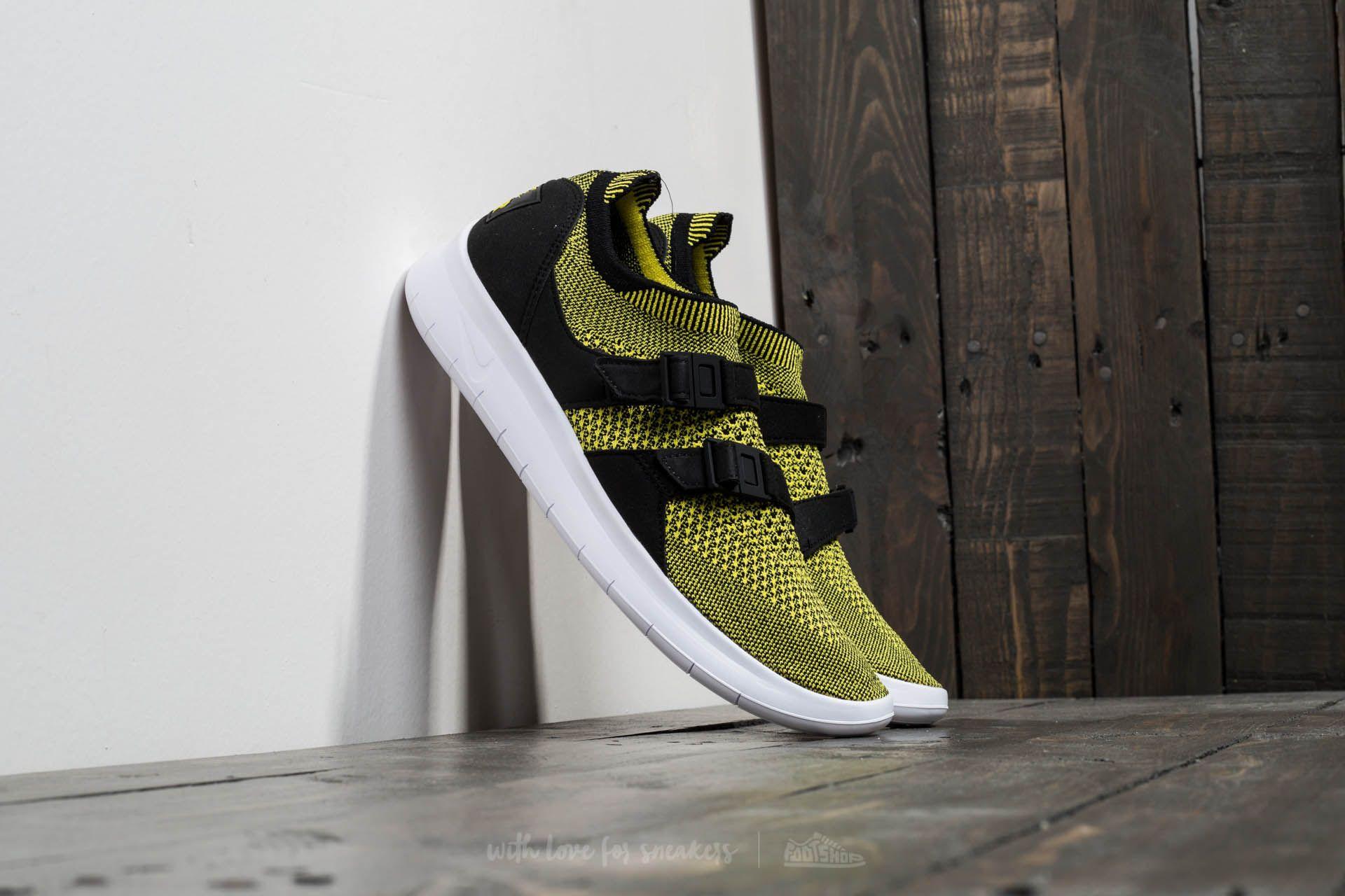 Nike W Air Sockracer Flyknit Black/ White-Yellow Strike Footshop – FR