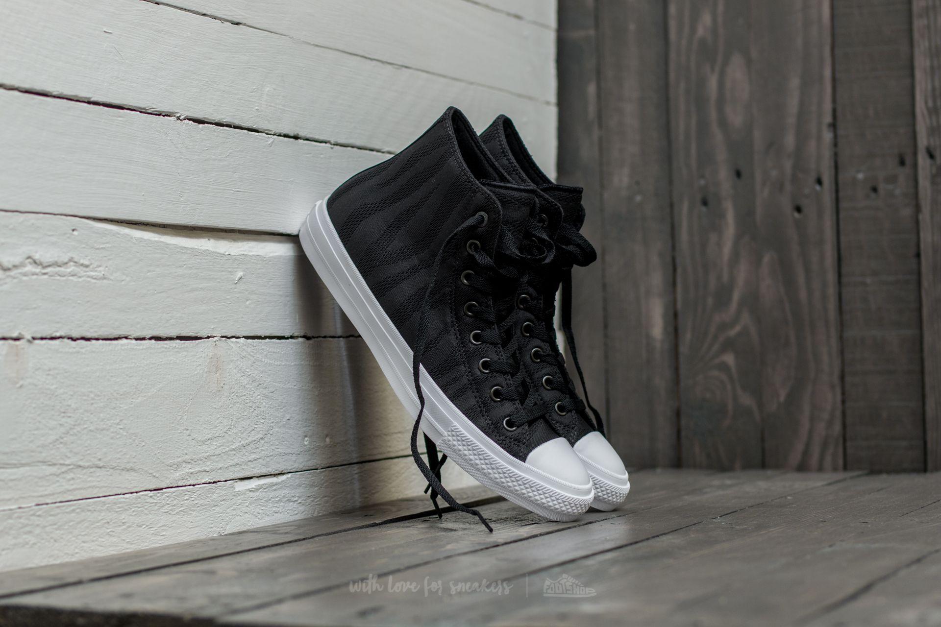 Converse Chuck Taylor All Star II Hi Black/ White/ Gum Footshop – FR
