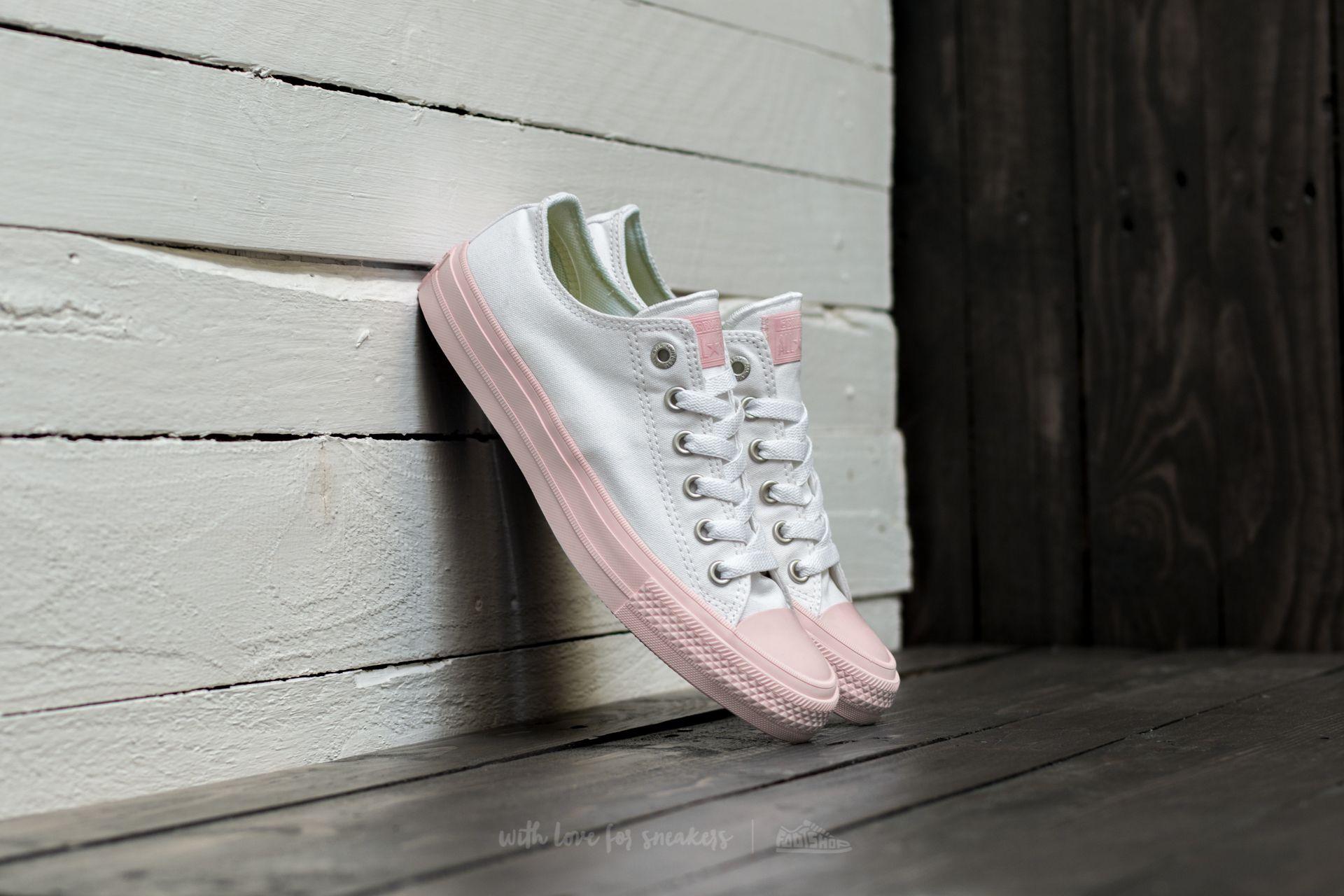Converse Chuck Taylor All Star II Ox White/ Vapor Pink/ Vapor Pink Footshop – FR