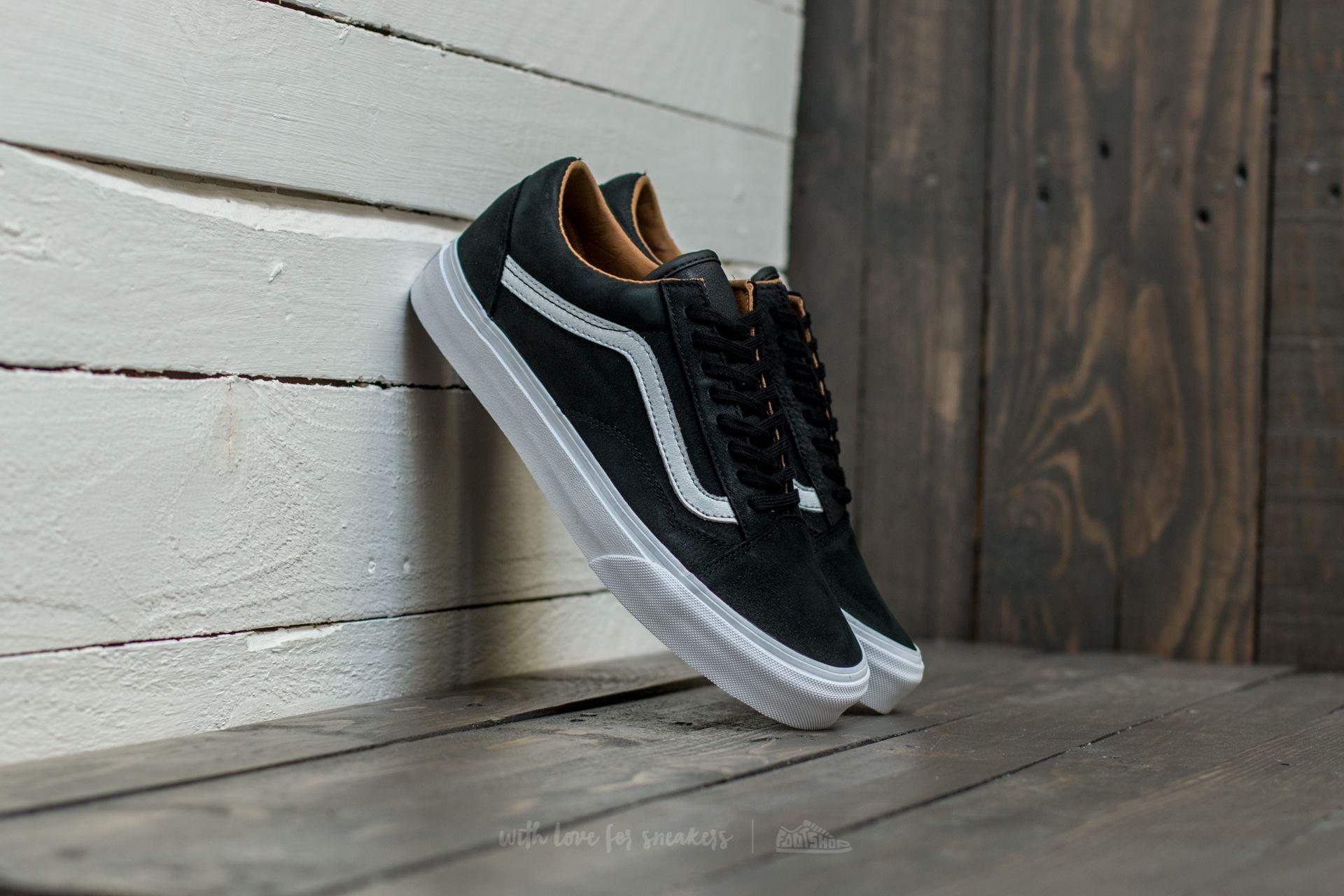 Vans Old Skool (Premium Leather) Black/ True White Footshop – FR